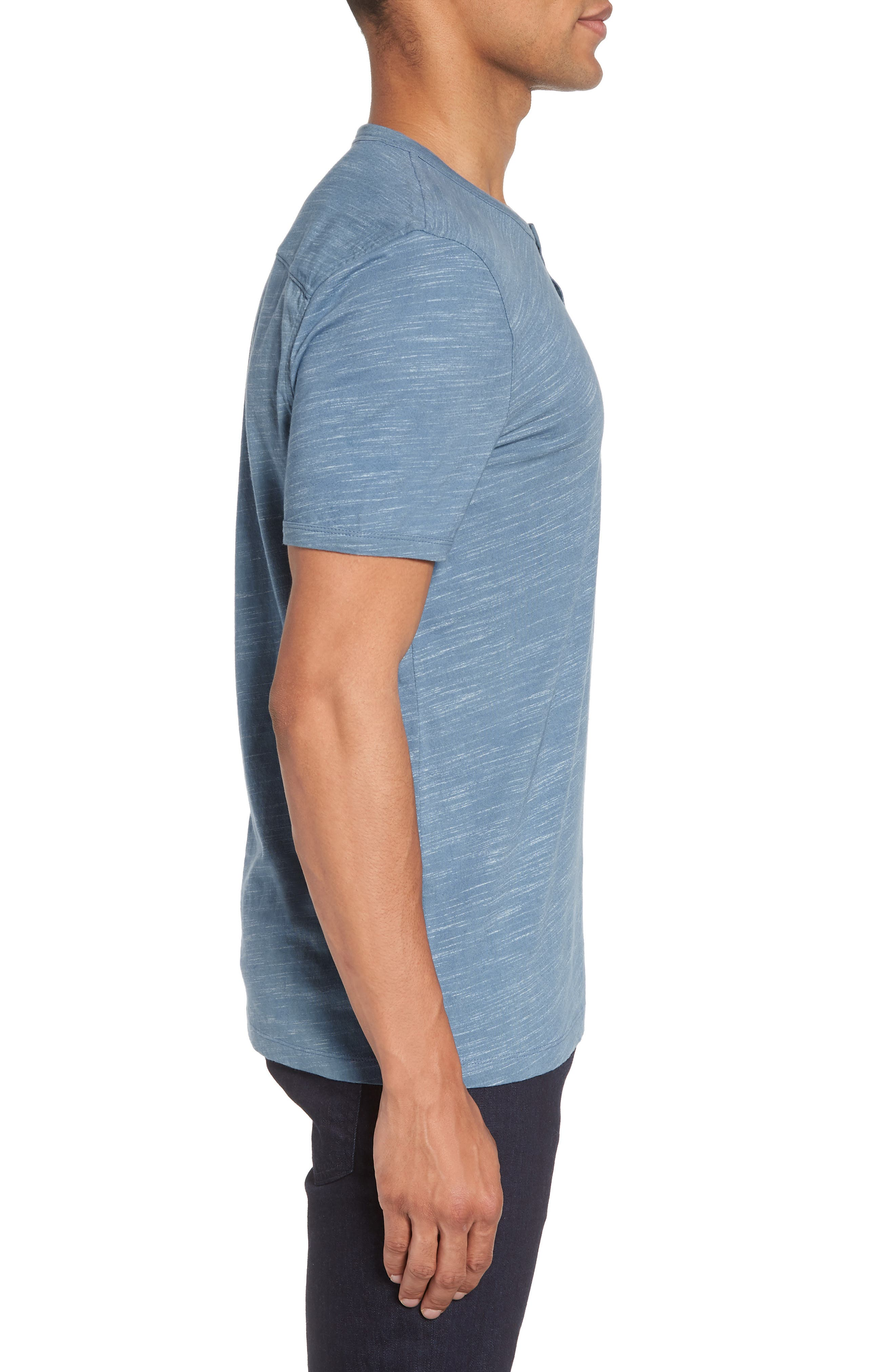 Space Dyed One-Button Henley T-Shirt,                             Alternate thumbnail 15, color,