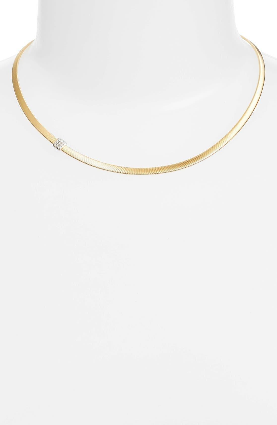 Masai Diamond Collar Necklace,                             Alternate thumbnail 5, color,                             YELLOW GOLD