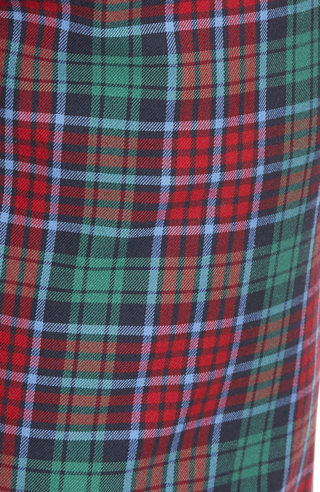 Leddy Park Slim Plaid Pants,                             Alternate thumbnail 5, color,                             342