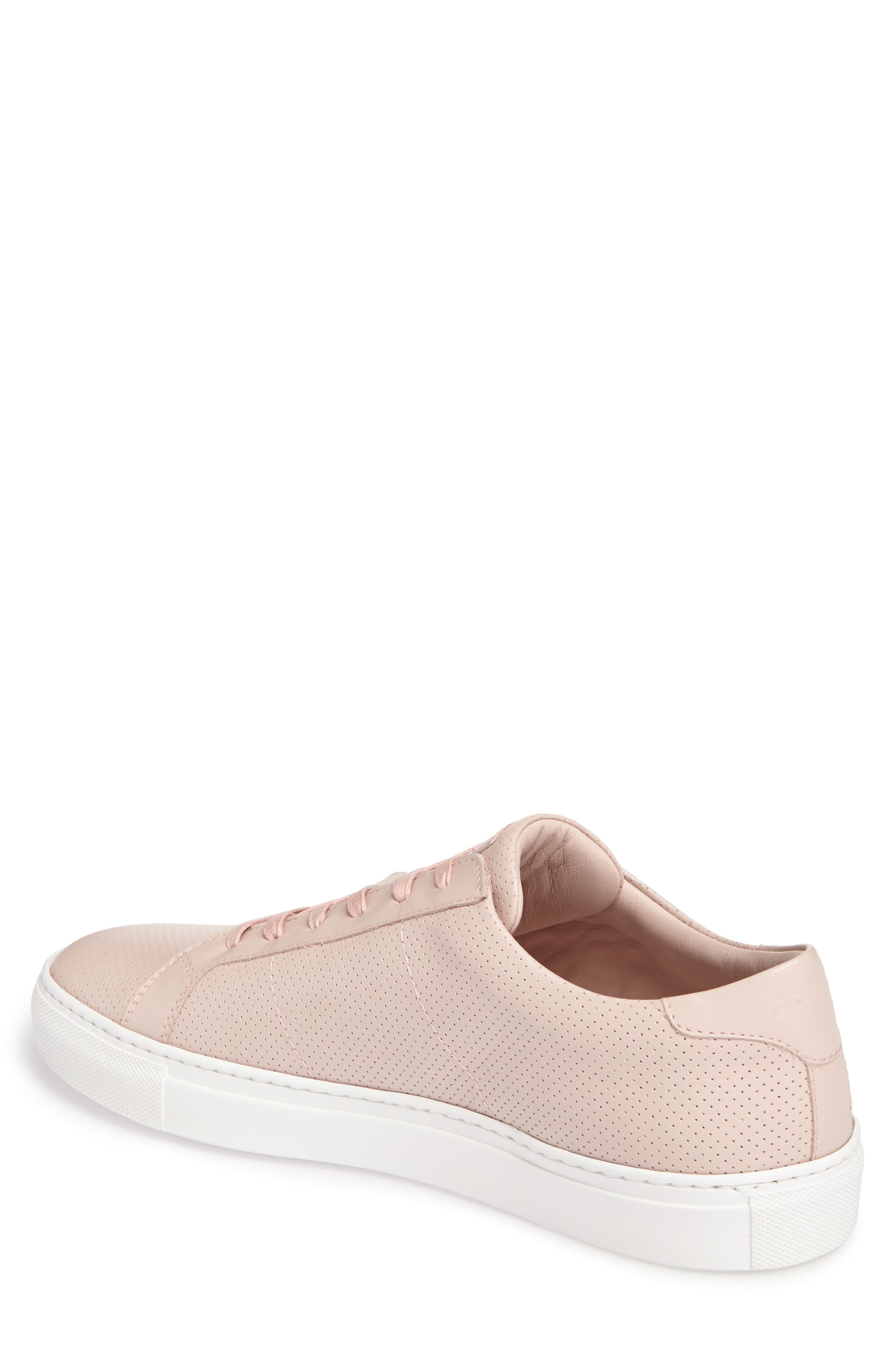 Royale Perforated Low Top Sneaker,                             Alternate thumbnail 2, color,                             BLUSH PERFORATED LEATHER