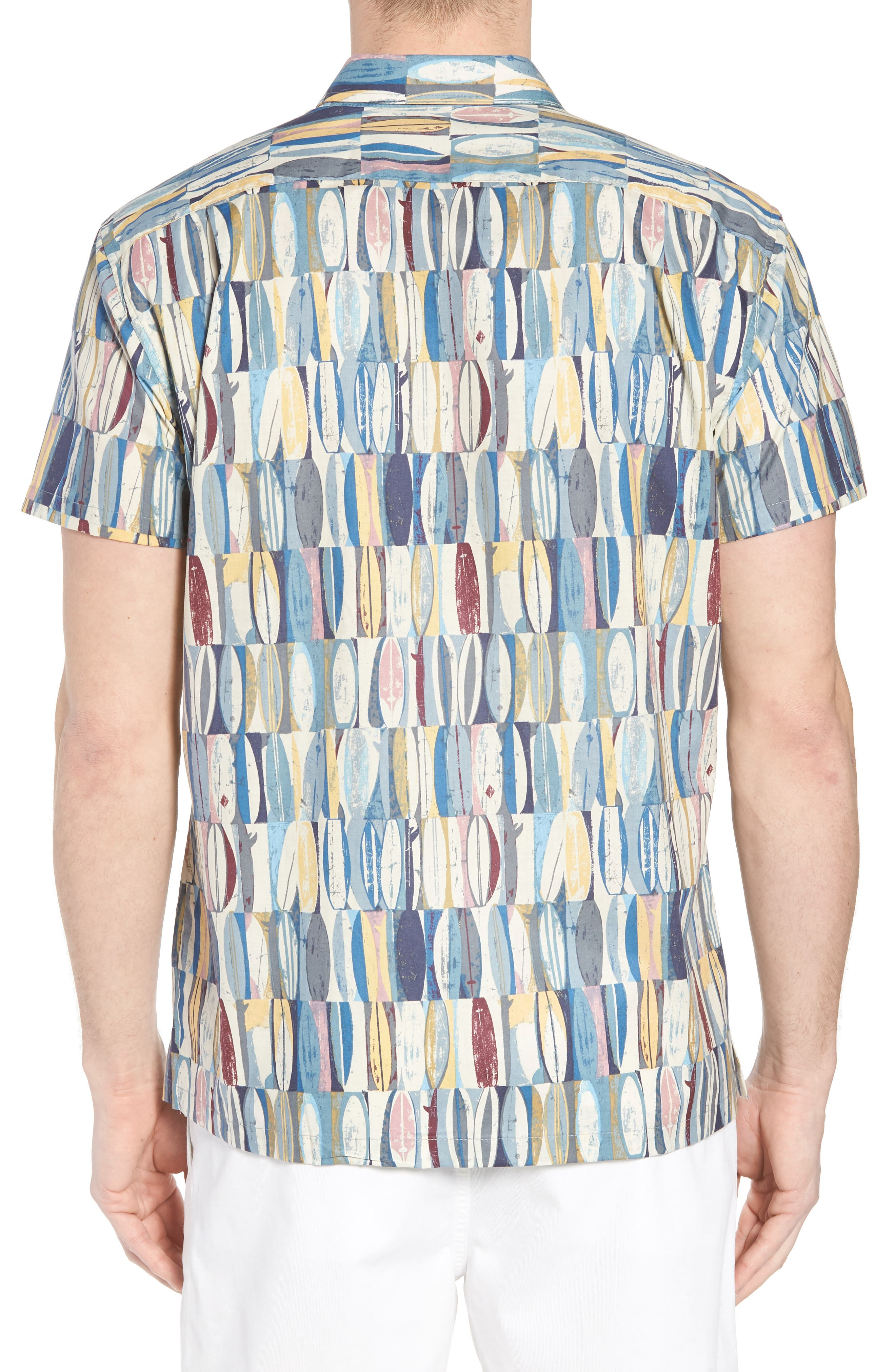 Board Room Trim Fit Camp Shirt,                             Alternate thumbnail 2, color,                             469