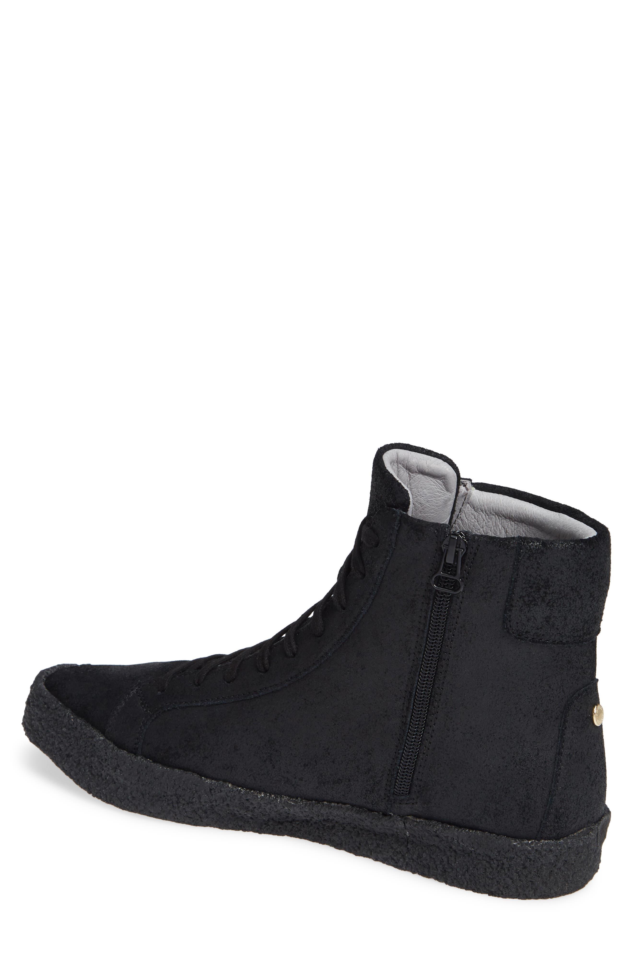Apa High Top Sneaker,                             Alternate thumbnail 2, color,                             TRIPLE BLACK LEATHER