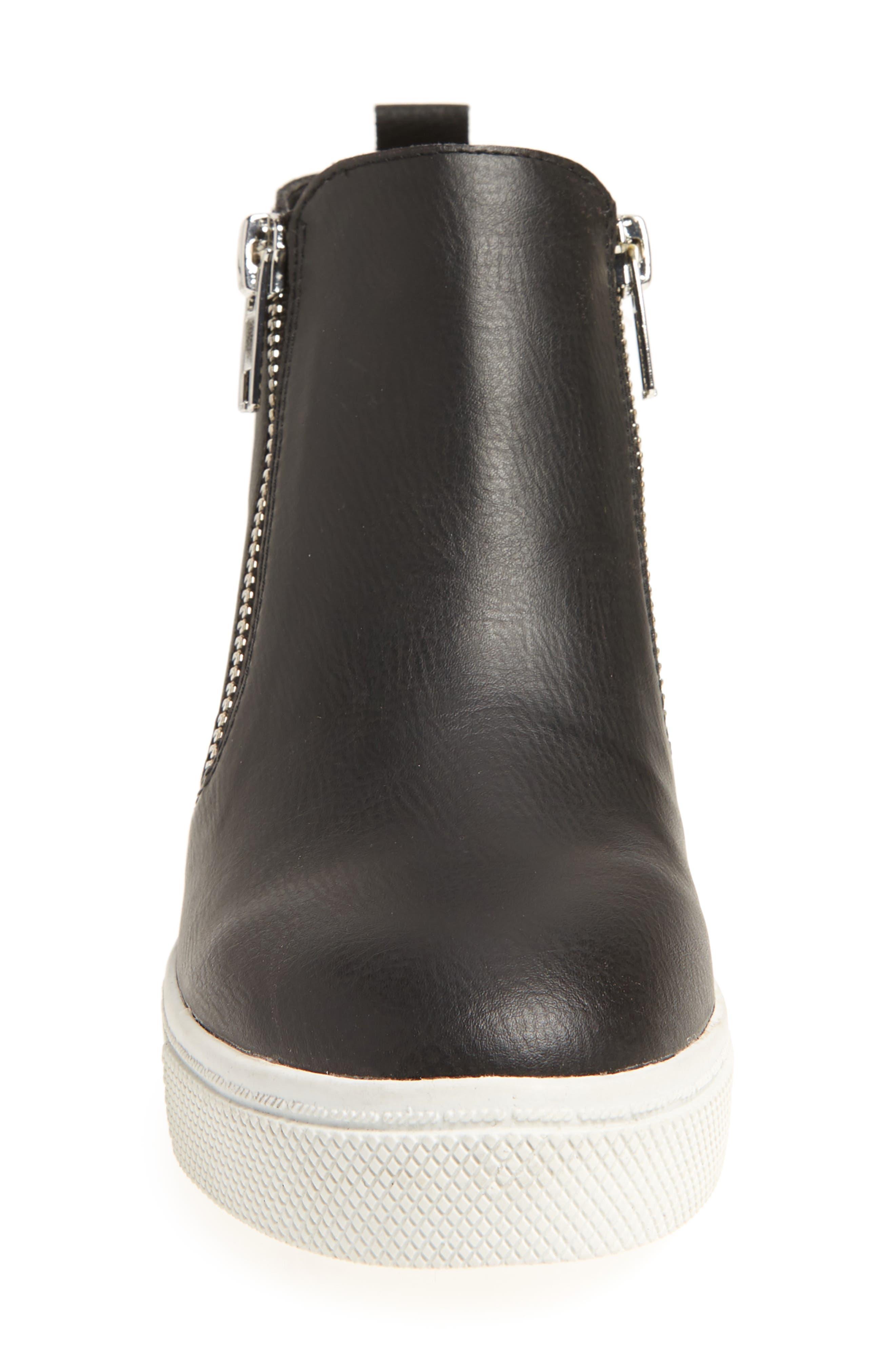 Wedgie Hidden Wedge Sneaker,                             Alternate thumbnail 4, color,                             BLACK