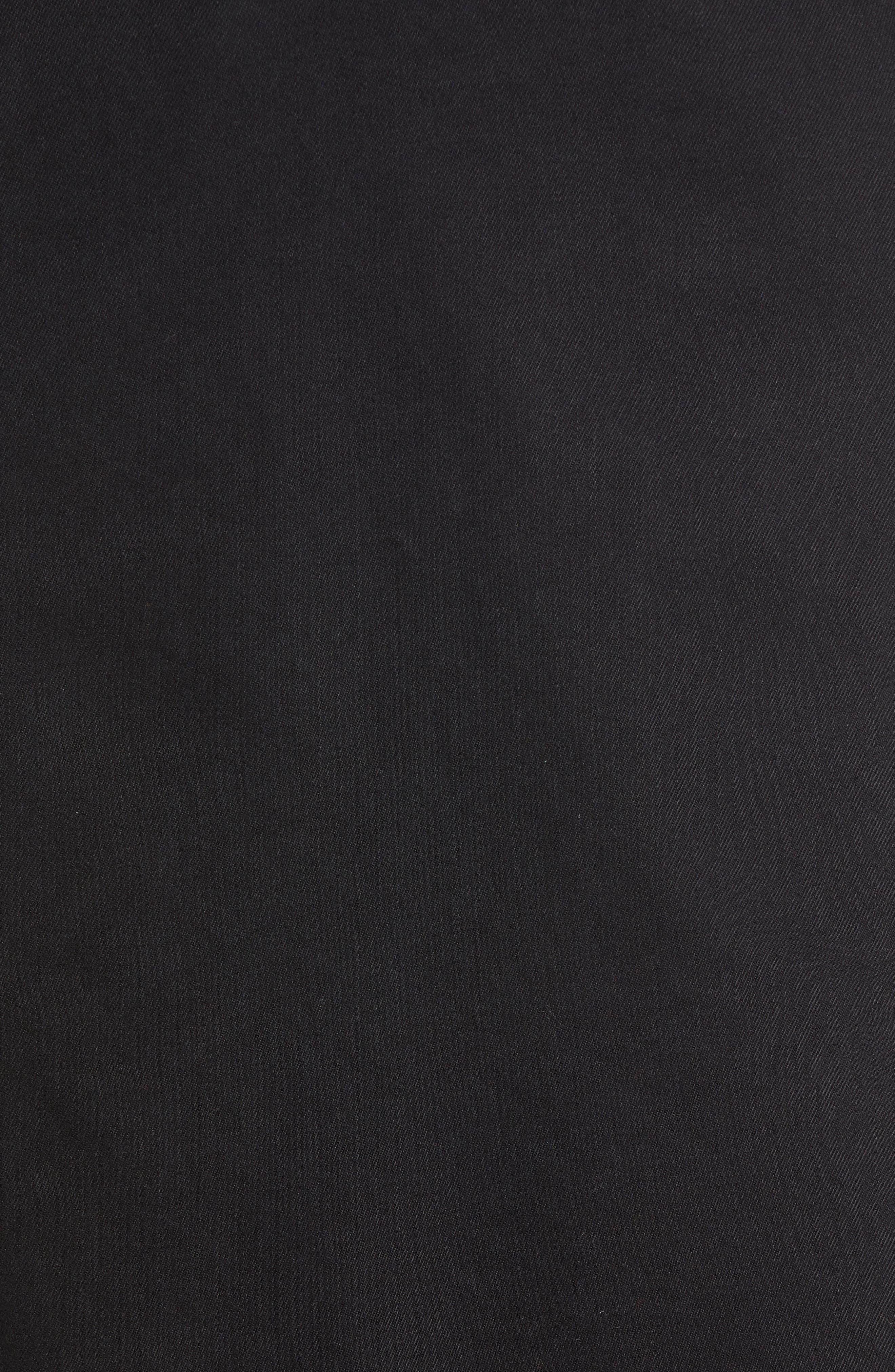 Zip Front Dress,                             Alternate thumbnail 6, color,                             BLACK STONE