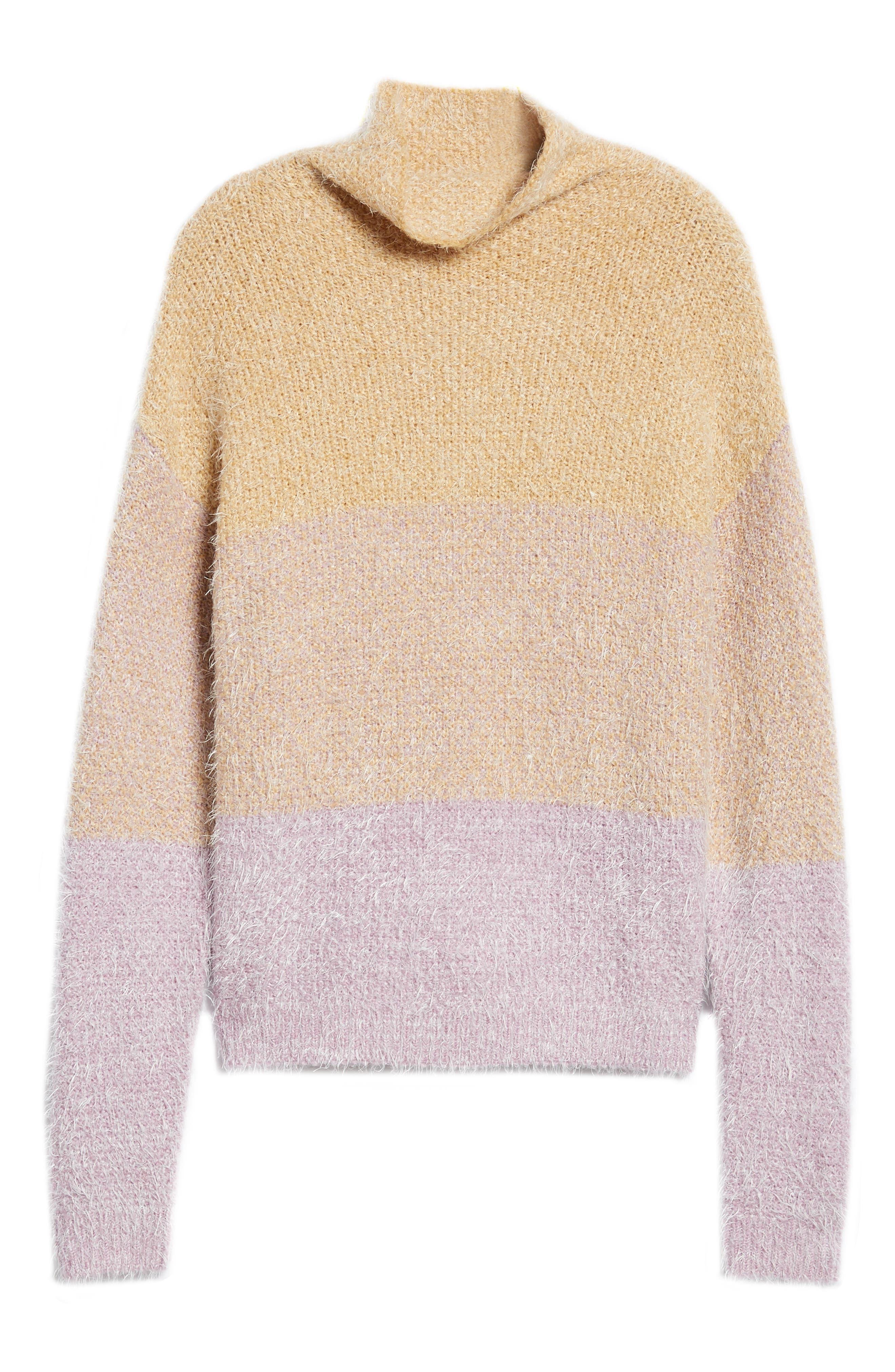 Ombré Eyelash Sweater,                             Alternate thumbnail 6, color,                             PINK AMOUR