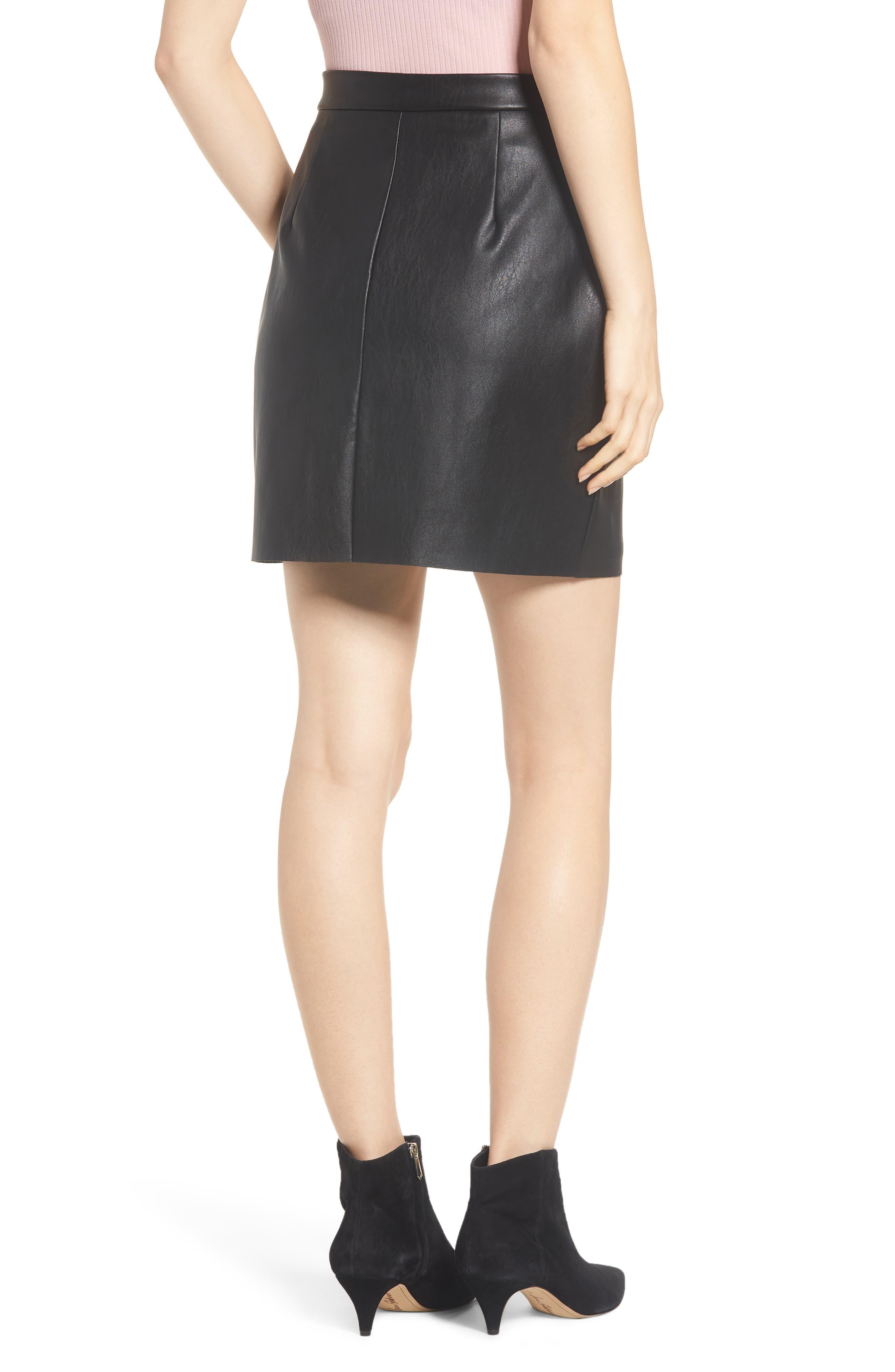 Exposed Zip Miniskirt,                             Alternate thumbnail 2, color,                             001
