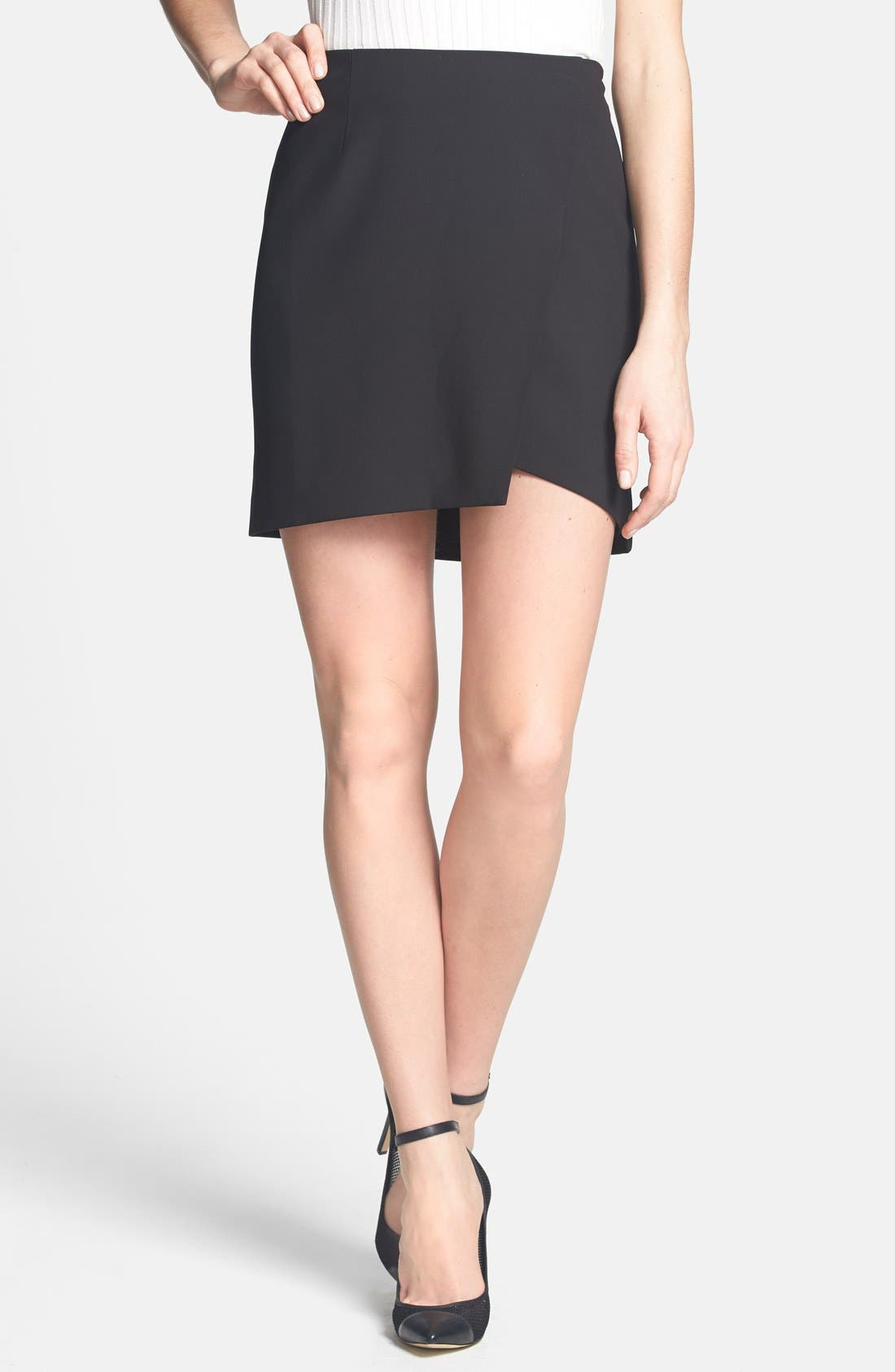Asymmetrical Miniskirt,                         Main,                         color, 001