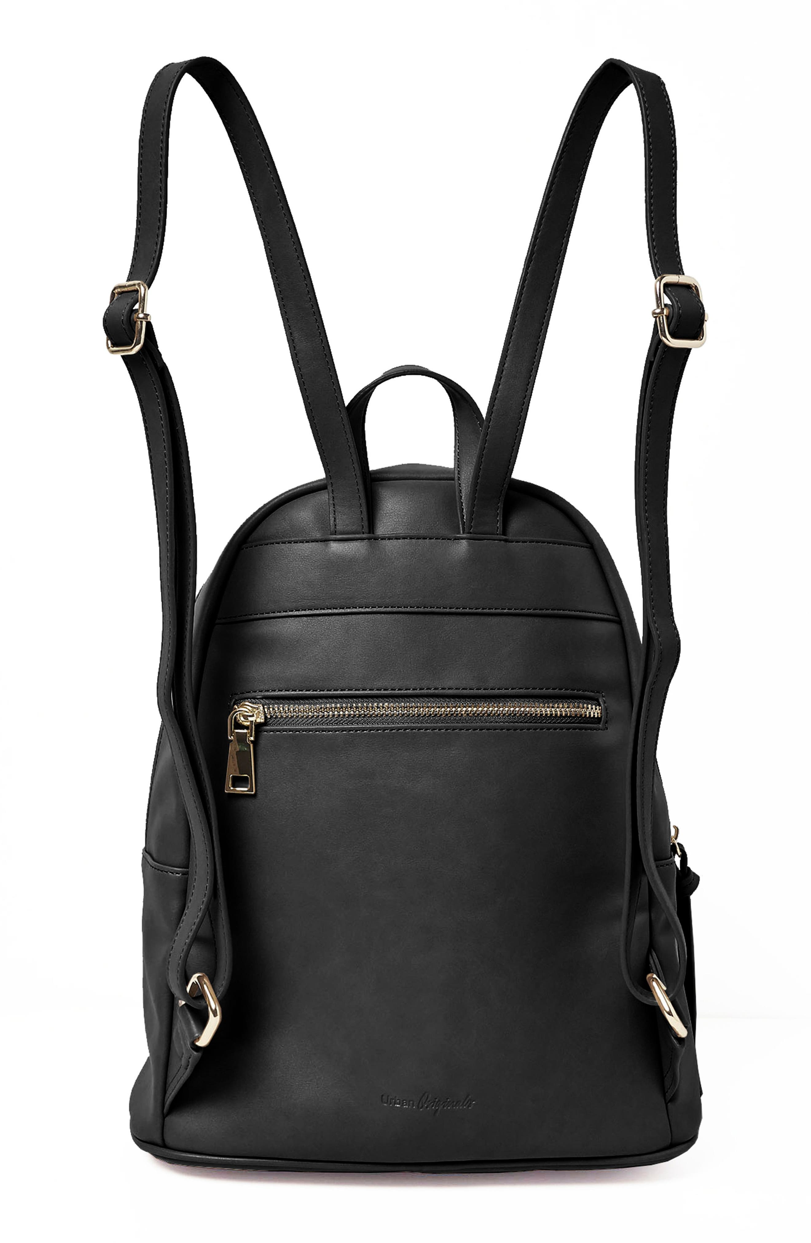 Sublime Vegan Leather Backpack,                             Alternate thumbnail 2, color,                             001
