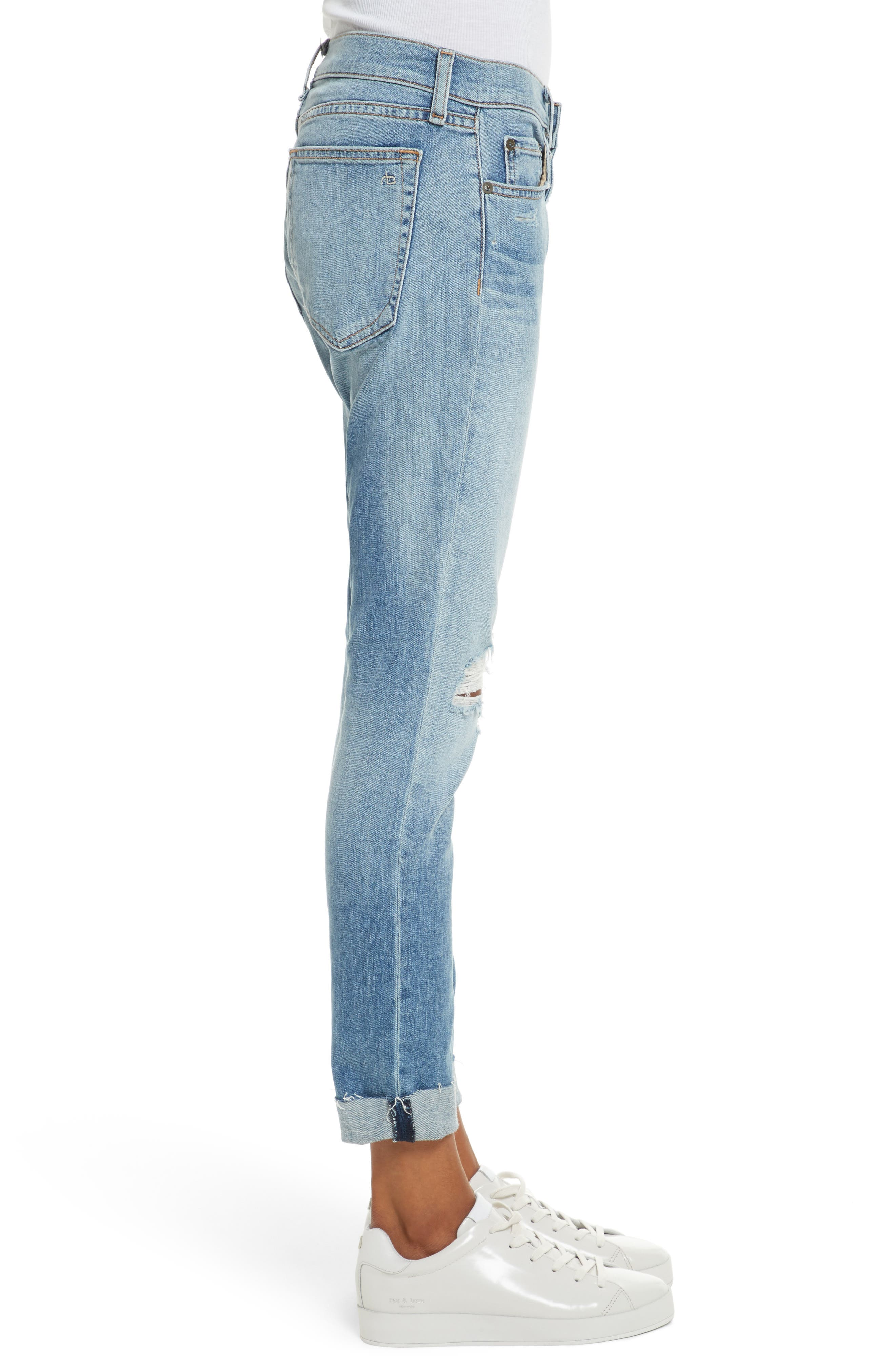 The Dre Slim Boyfriend Jeans,                             Alternate thumbnail 3, color,