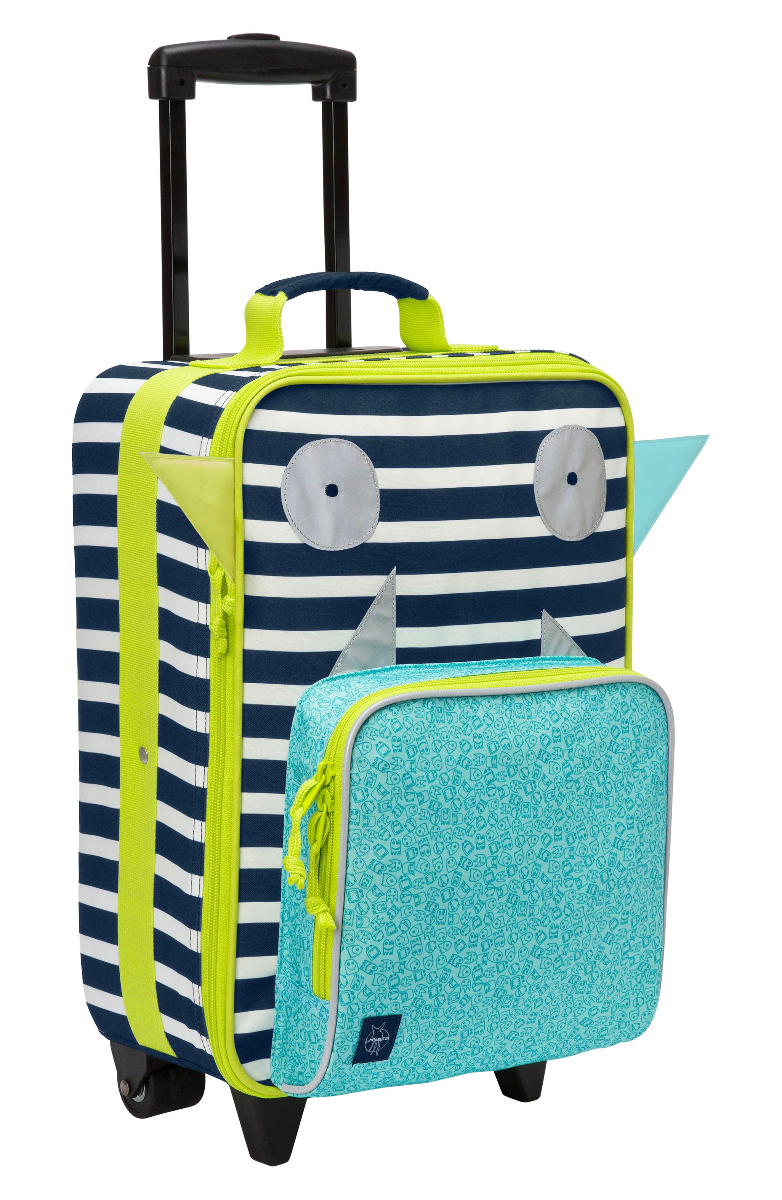 Little Monster Rolling Suitcase,                             Main thumbnail 1, color,                             400