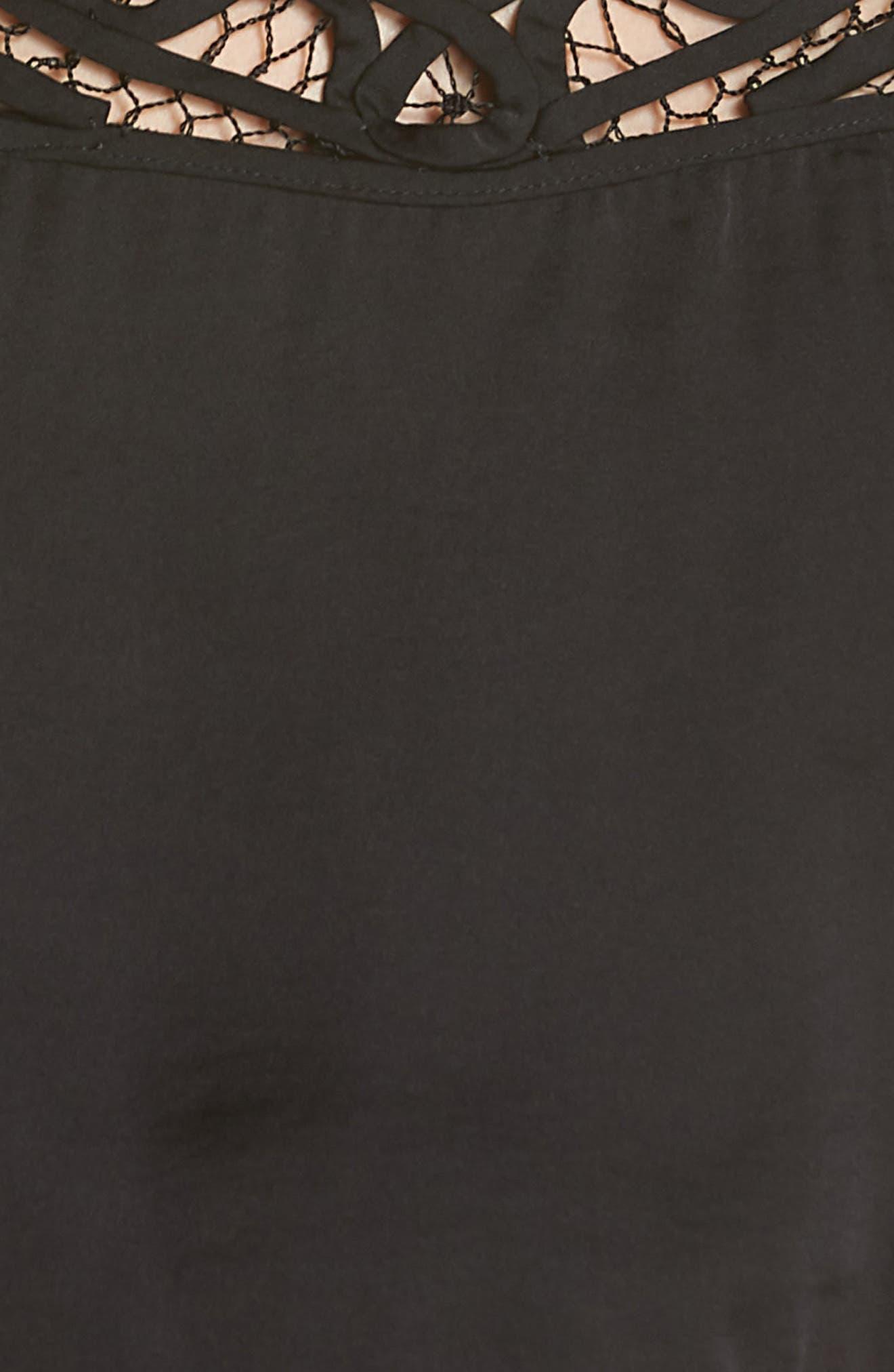 Intimately FP Blouson Crop Top,                             Alternate thumbnail 5, color,                             BLACK