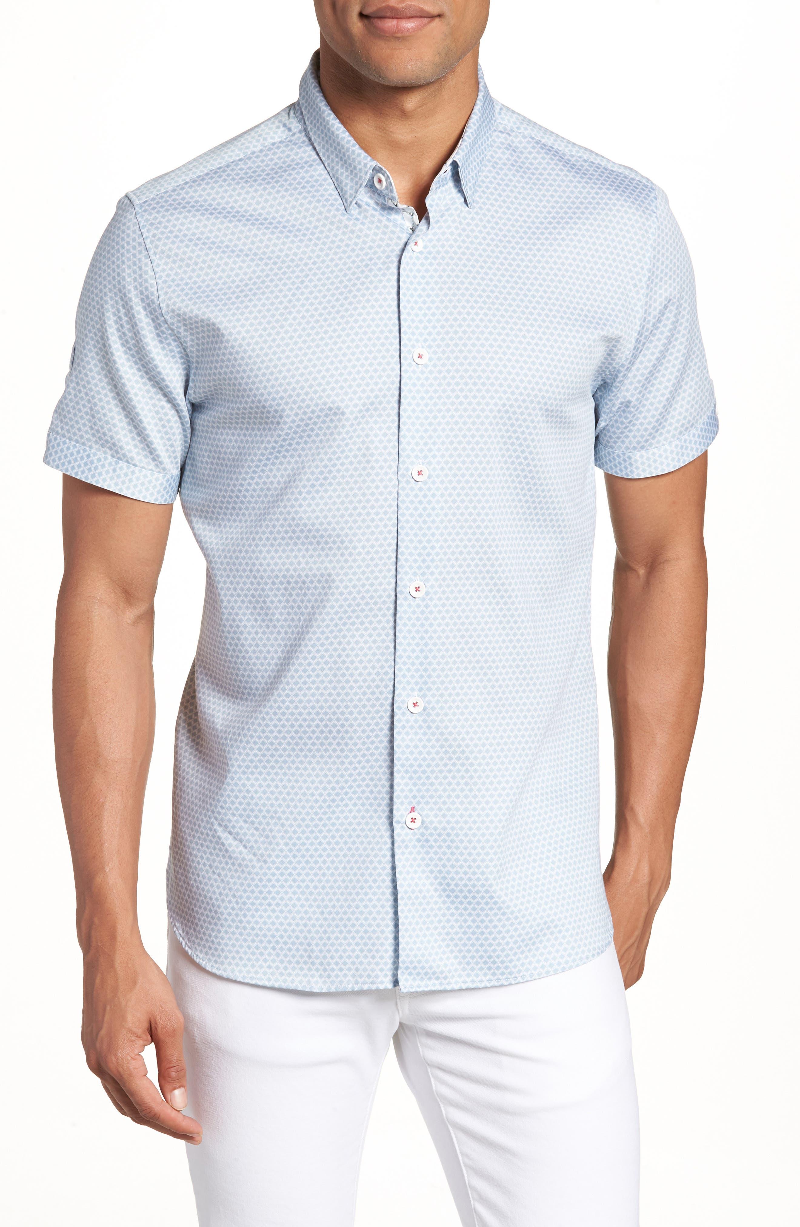 Gudvu Geo Print Sport Shirt,                         Main,                         color, 020