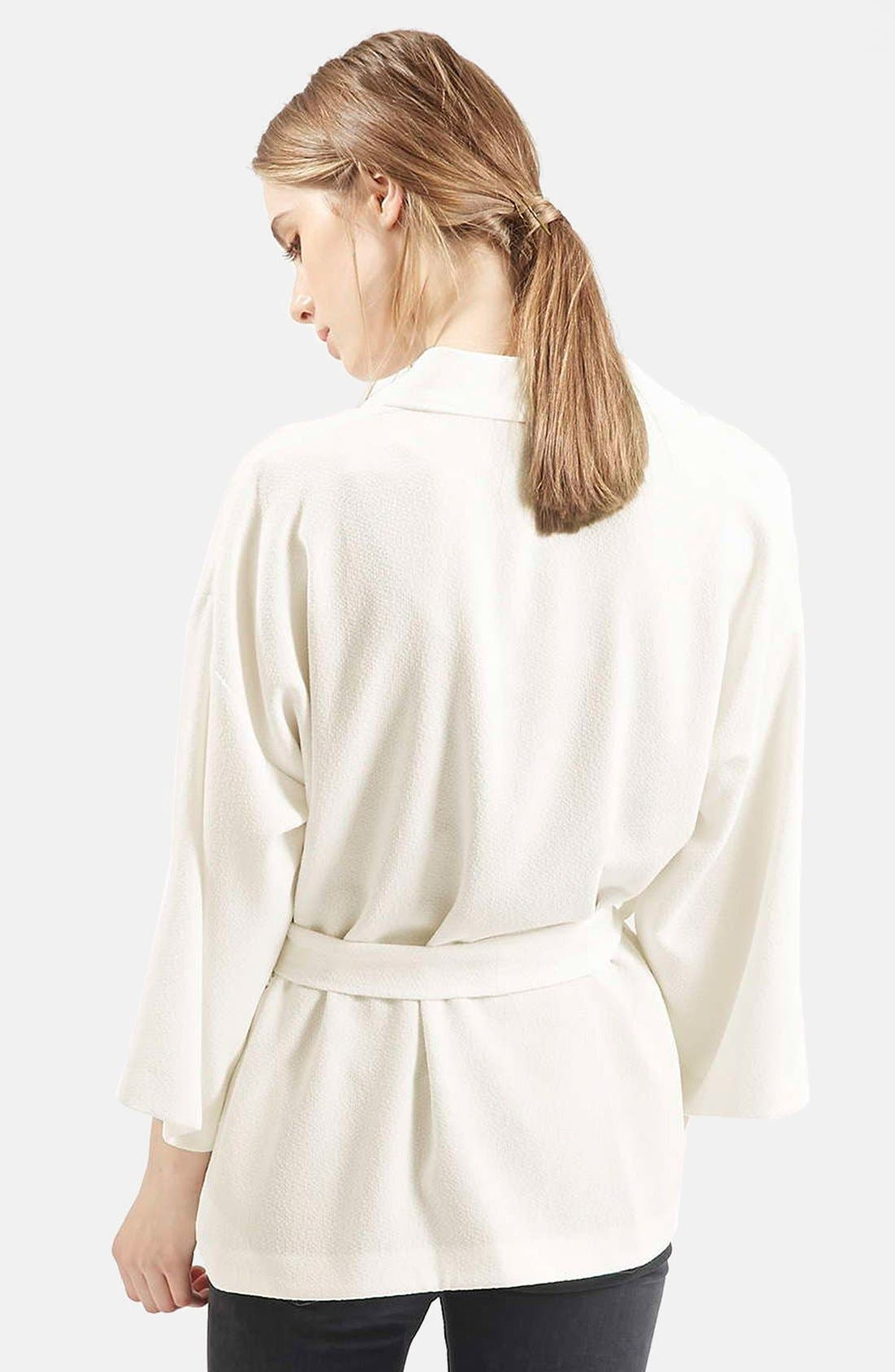 Belted Kimono Jacket,                             Alternate thumbnail 3, color,                             900