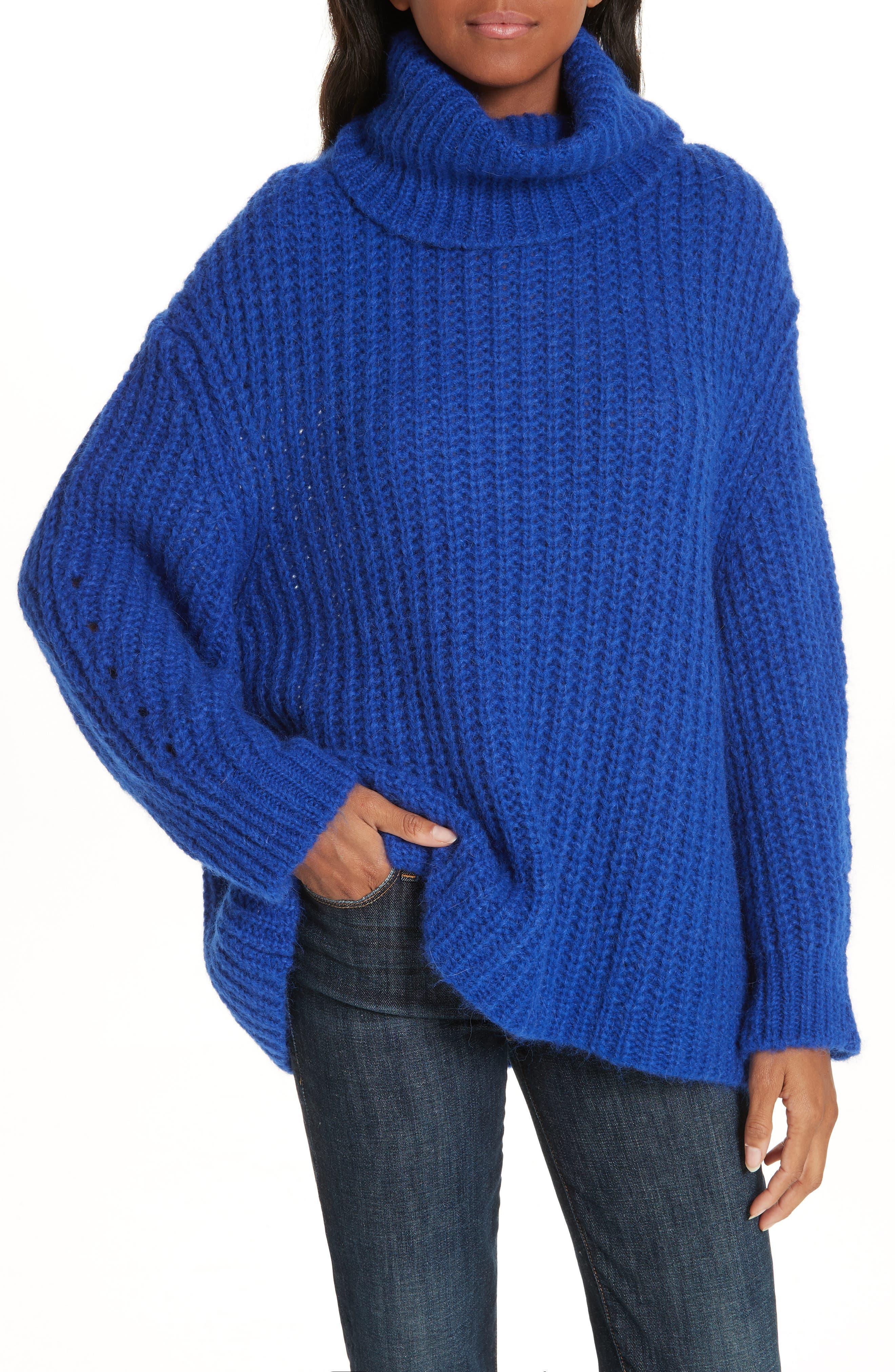 Emera Turtleneck Sweater,                         Main,                         color, BLUE