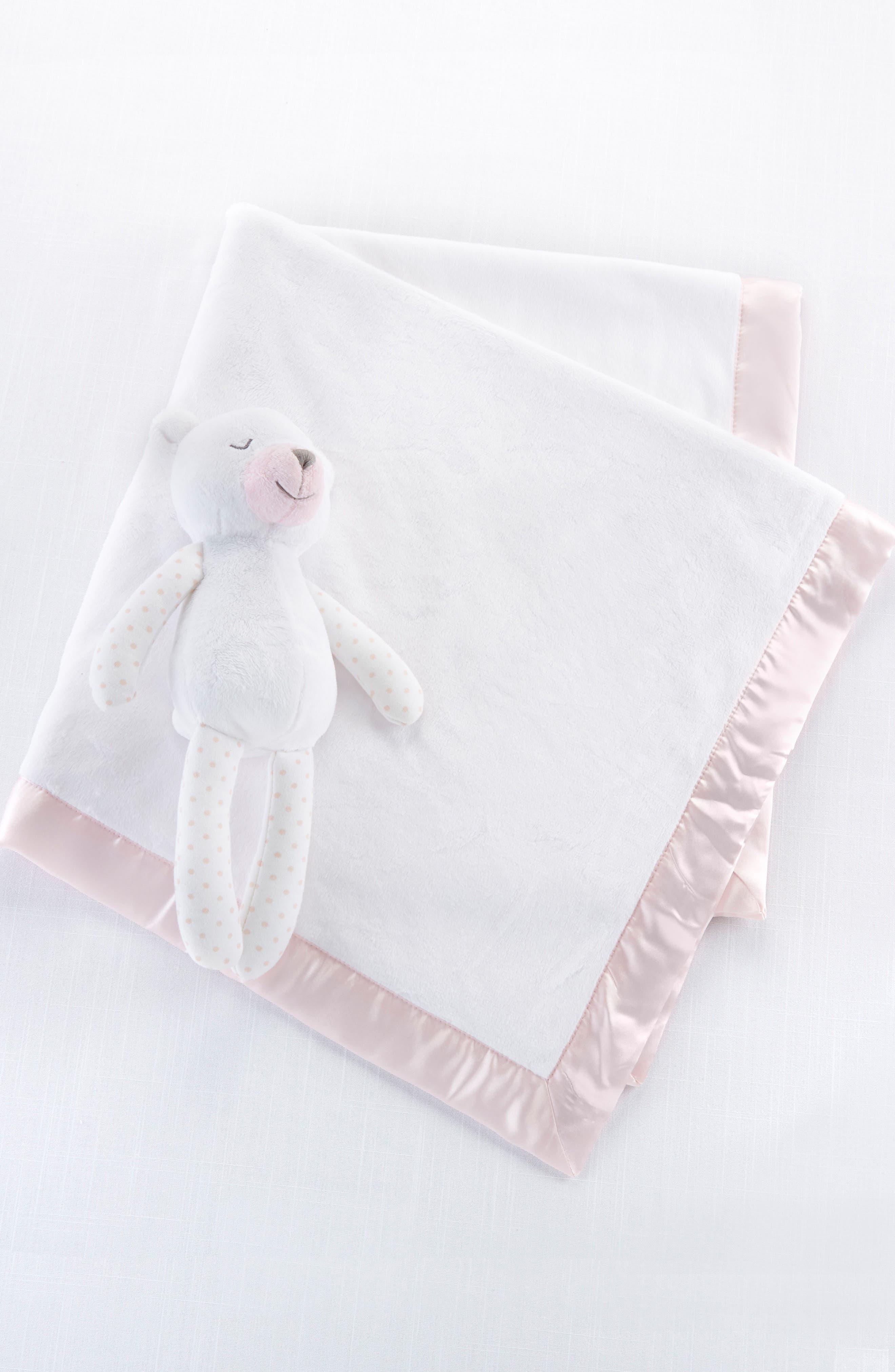 Beary Sleepy - Plush Plus Stuffed Animal & Blanket Set,                         Main,                         color, PINK