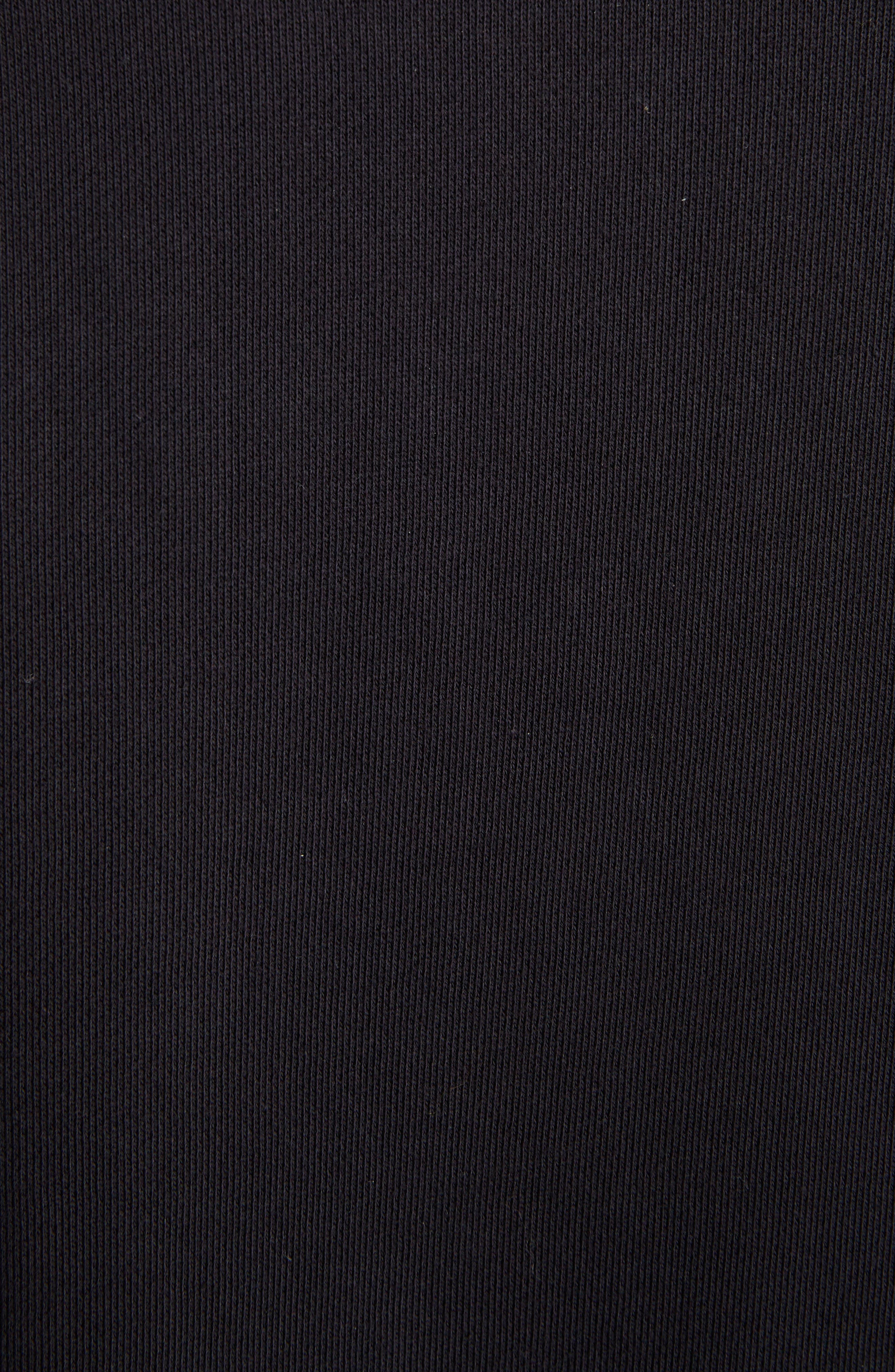 Fan Embroidered Sweatshirt,                             Alternate thumbnail 5, color,                             BLACK