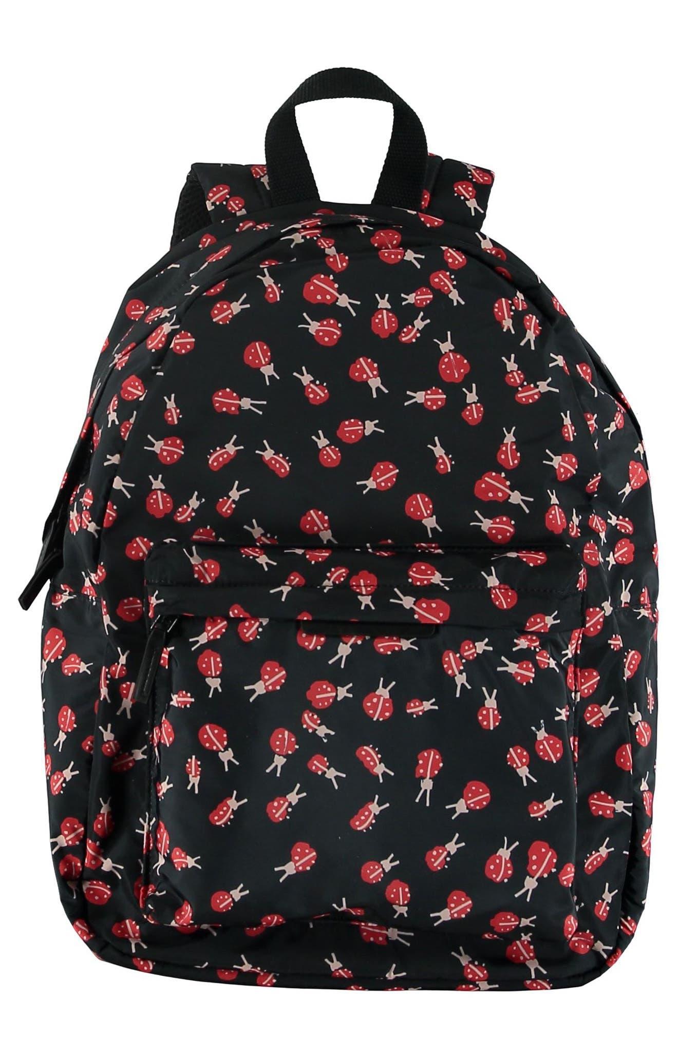 Ladybug Backpack,                         Main,                         color, 1075 BLACK