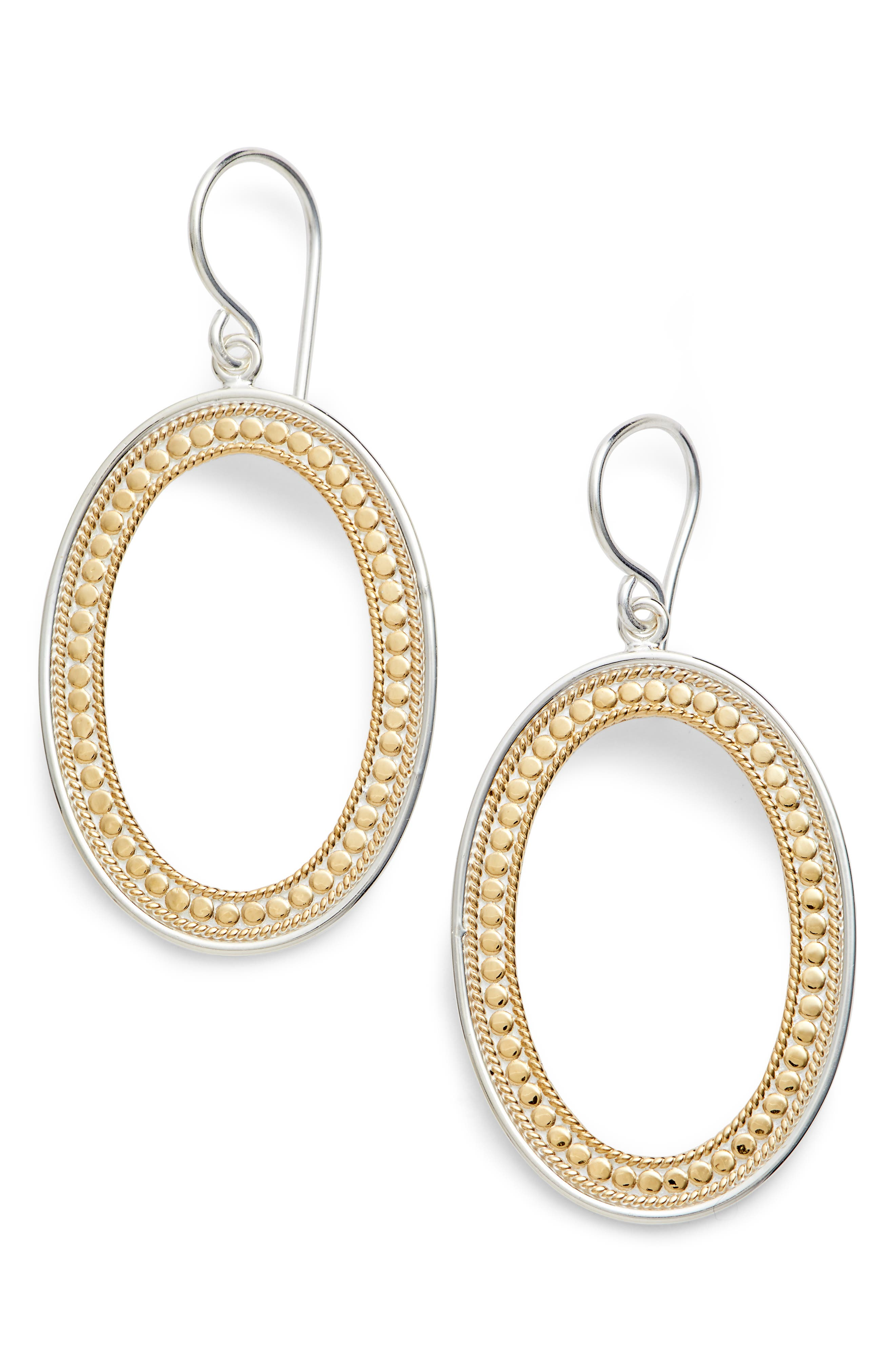 ANNA BECK Large Open Oval Drop Earrings, Main, color, 711