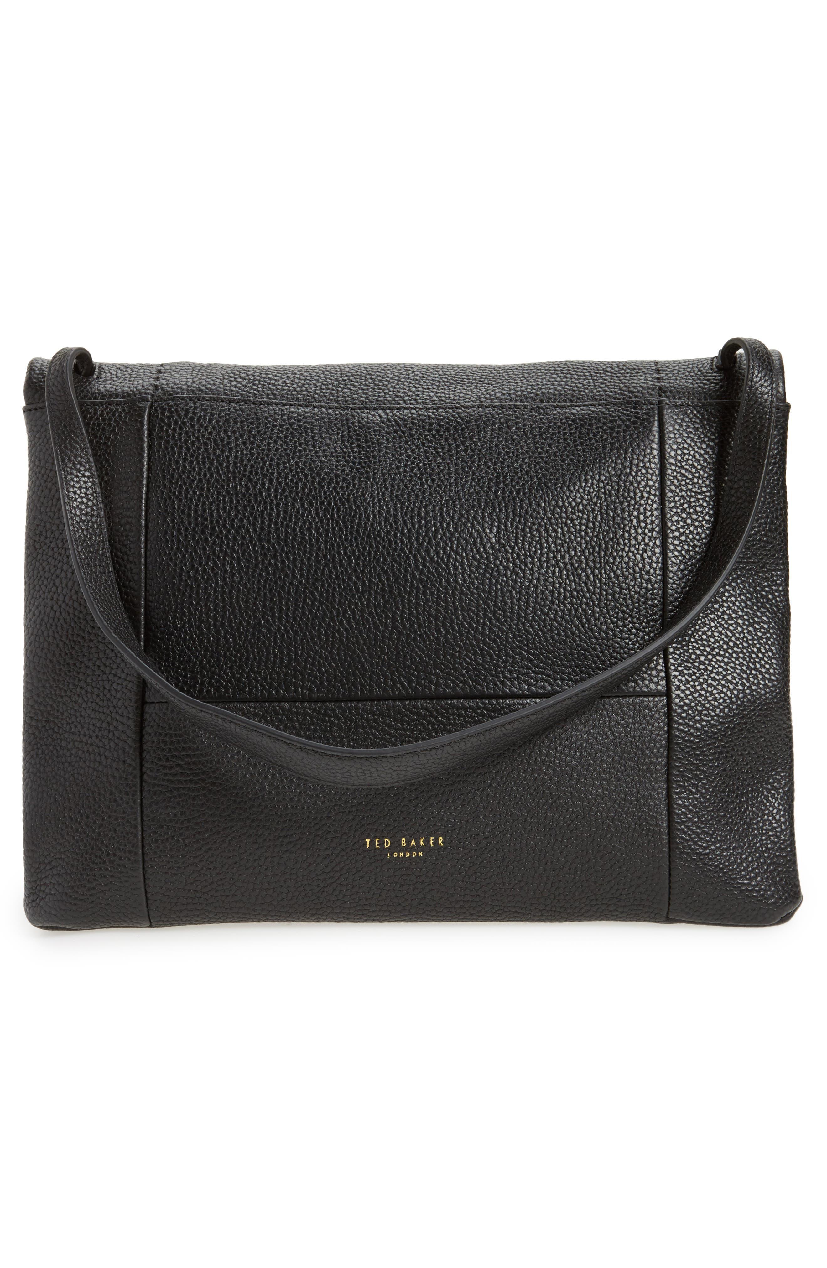 Proter Leather Shoulder Bag,                             Alternate thumbnail 3, color,                             001