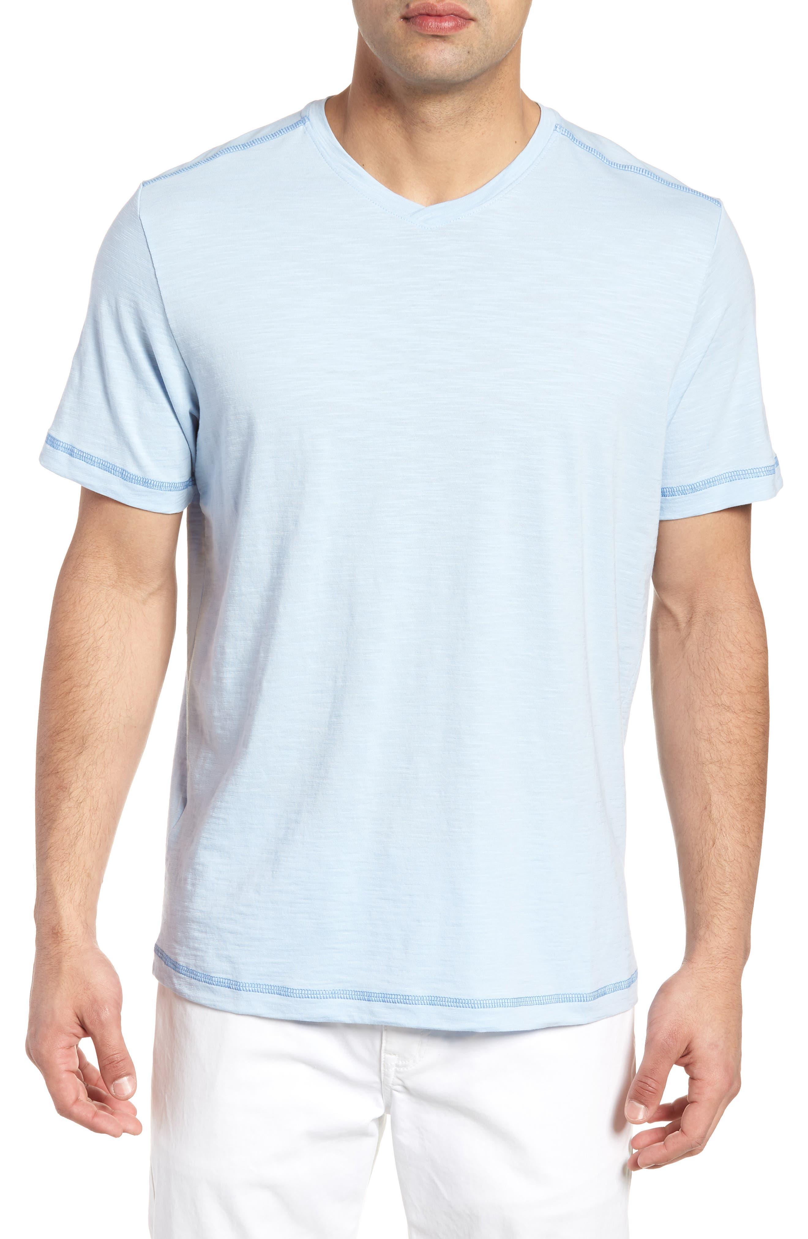 Portside Palms V-Neck T-Shirt,                             Main thumbnail 5, color,