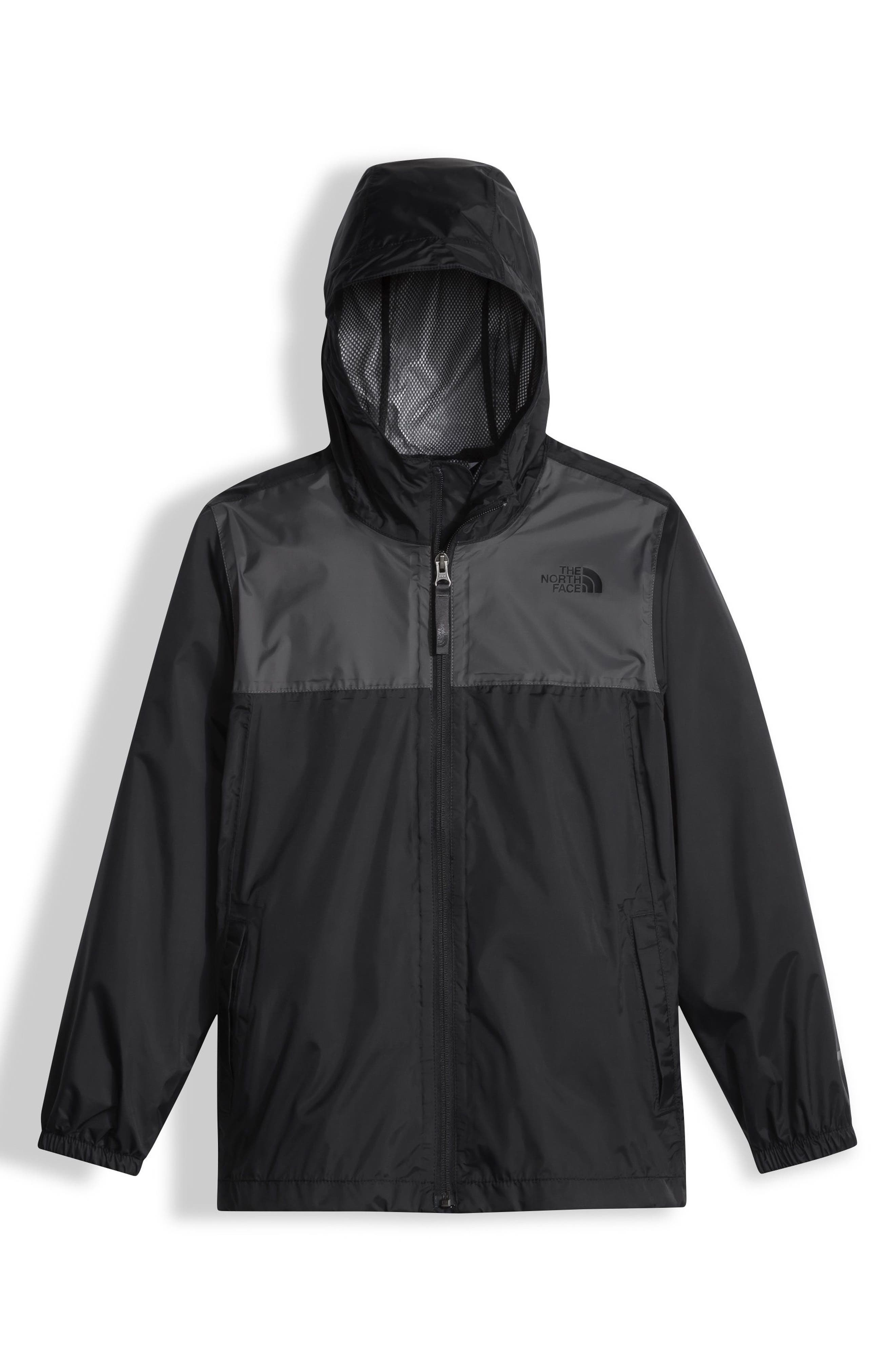 Zipline Hooded Rain Jacket,                             Main thumbnail 1, color,                             001