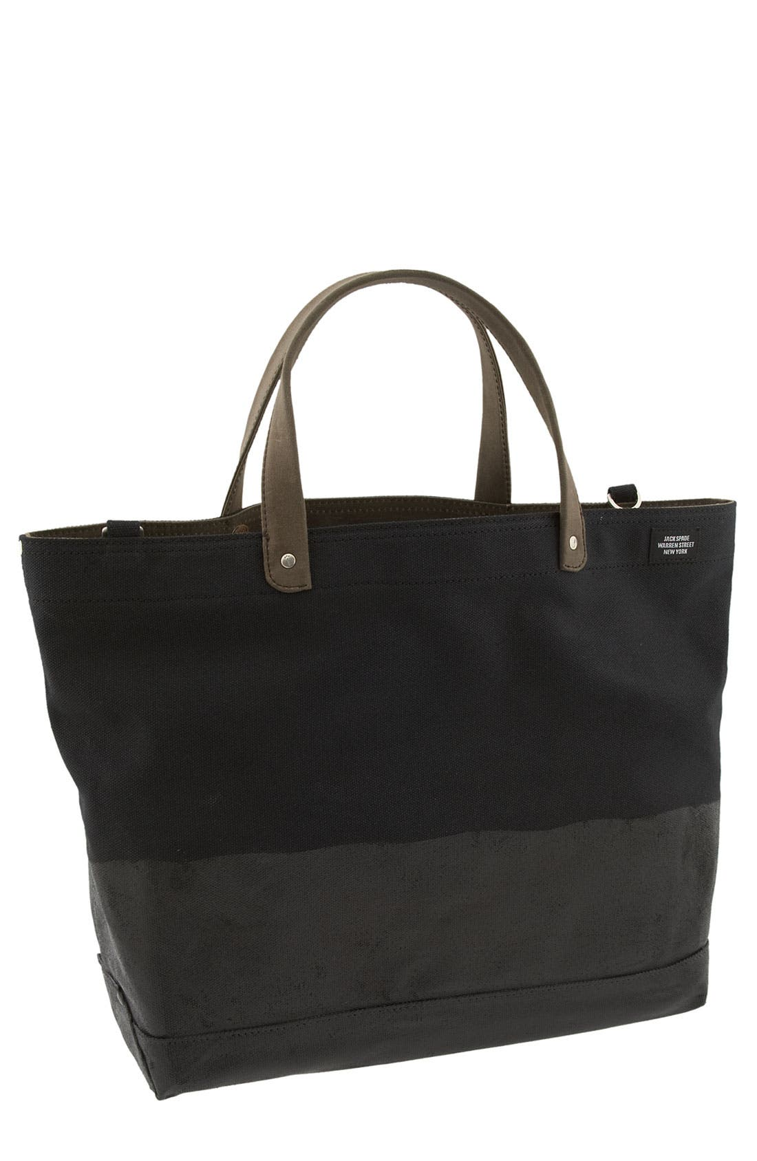 'Industrial Dipped Coal' Canvas Bag,                         Main,                         color, 079