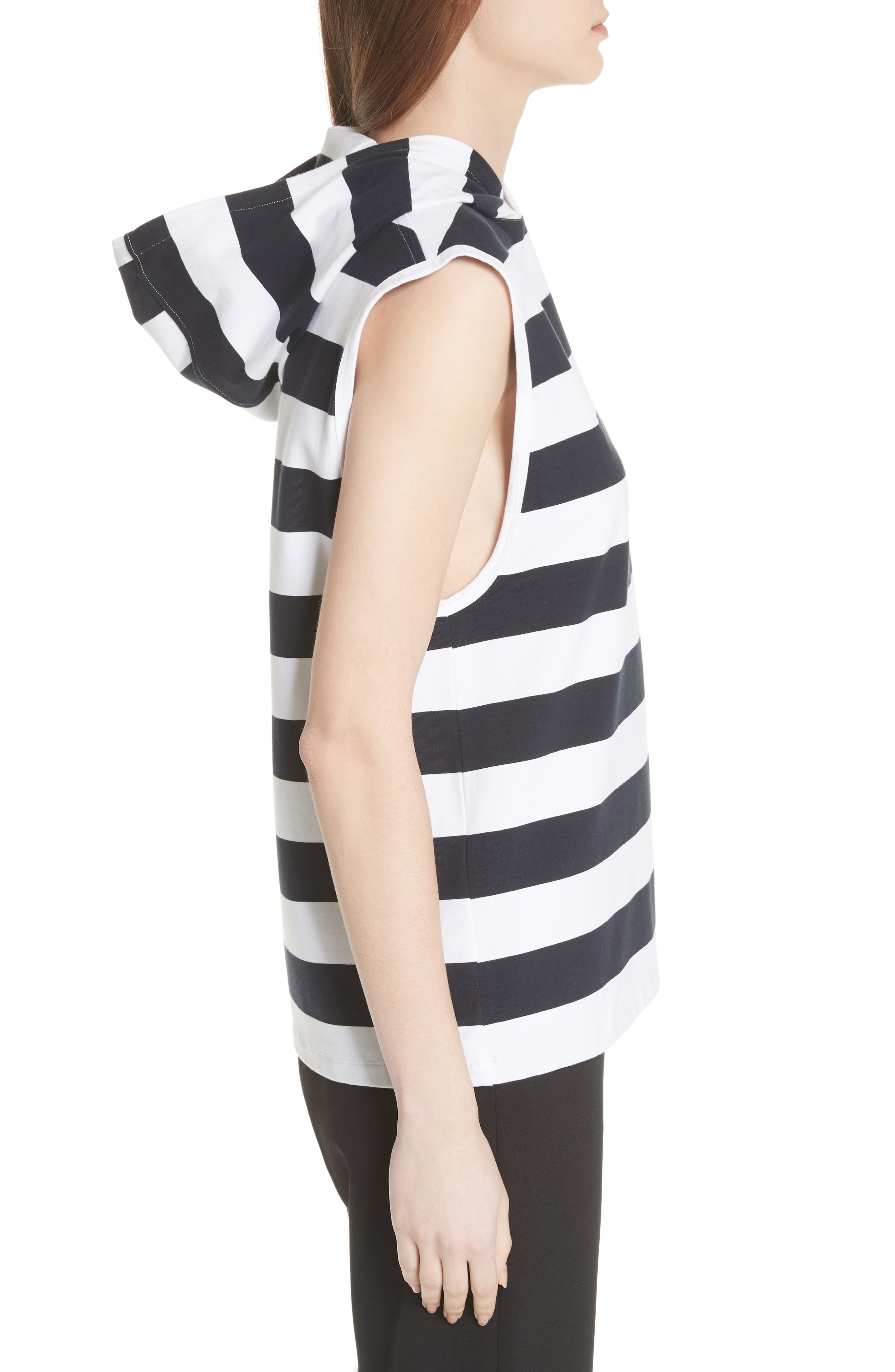 Muscle Stripe Stretch Cotton Tee,                             Alternate thumbnail 3, color,                             412