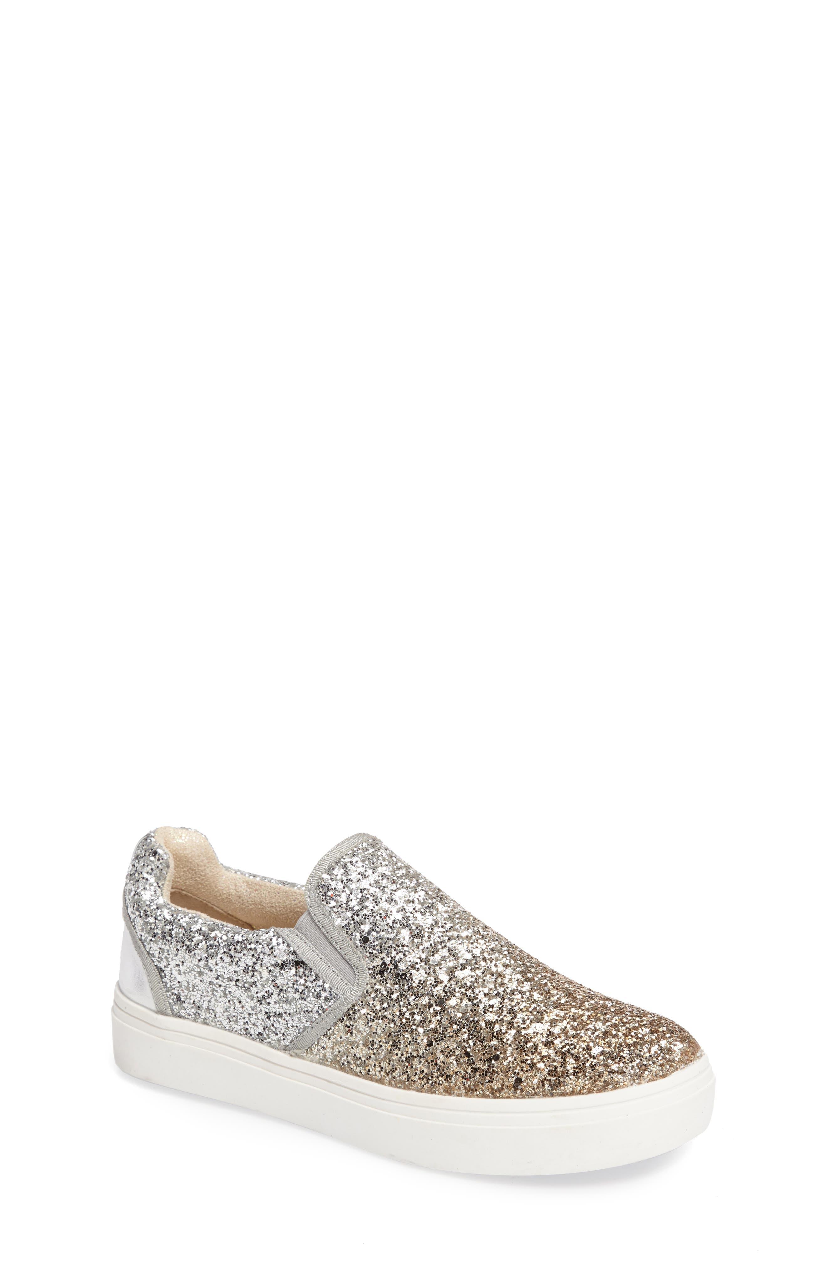 Double Marcia Glitter Platform Sneaker,                         Main,                         color, 040