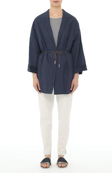 Suede & Cotton Blend Kimono Jacket, video thumbnail