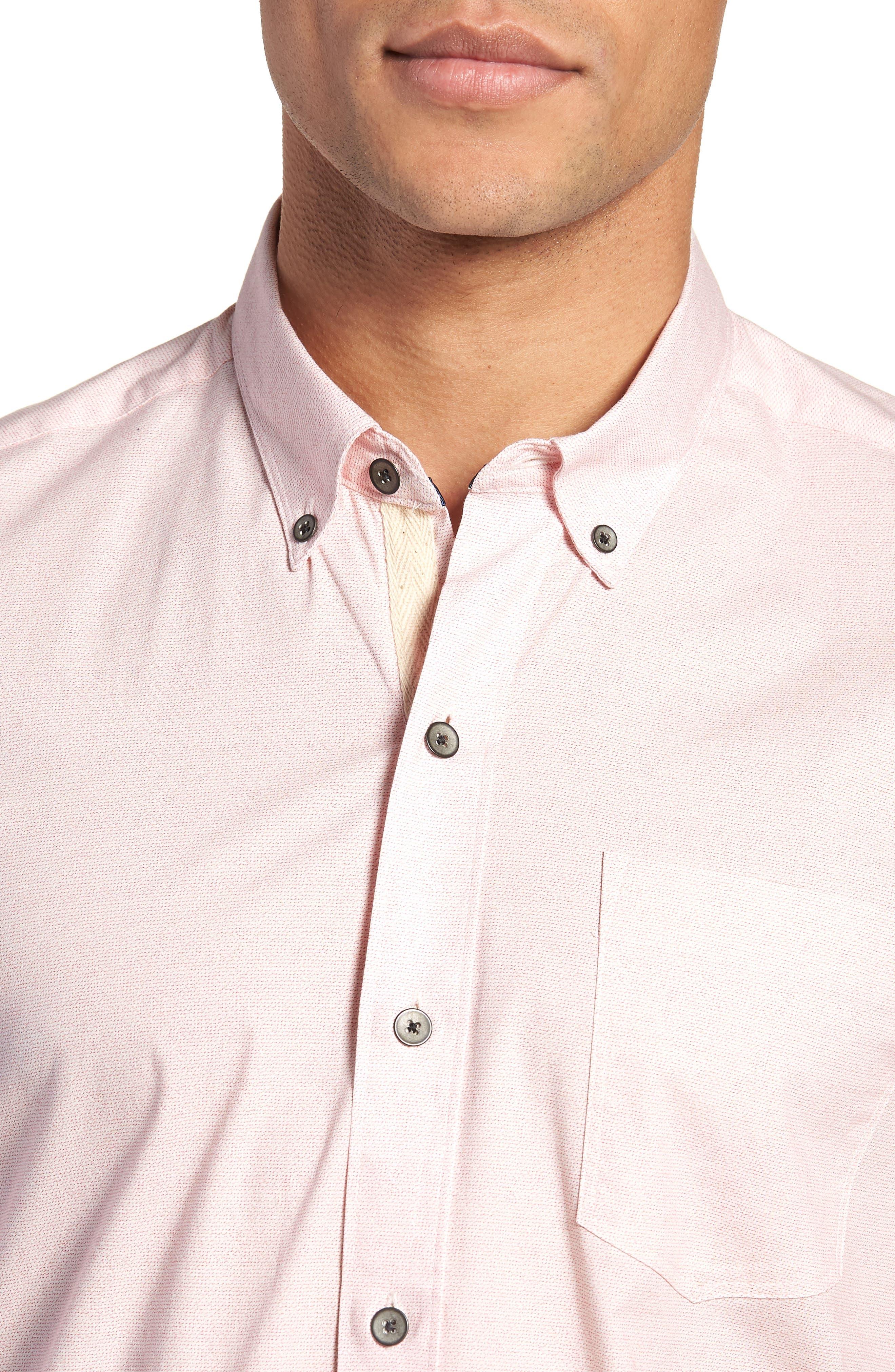 W.R.K,                             Reworked Slim Fit Speckled Sport Shirt,                             Alternate thumbnail 4, color,                             650