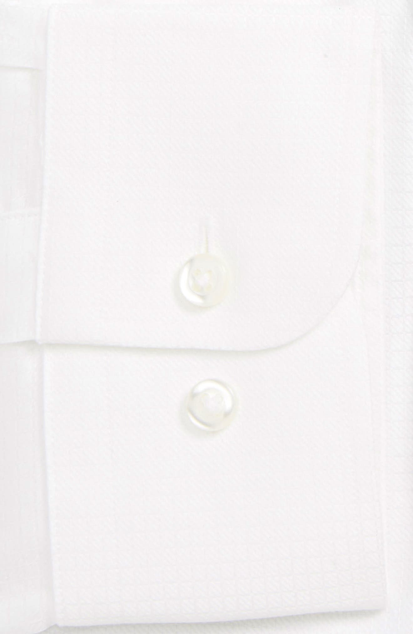 Traditional Fit Check Dress Shirt,                             Alternate thumbnail 2, color,                             WHITE