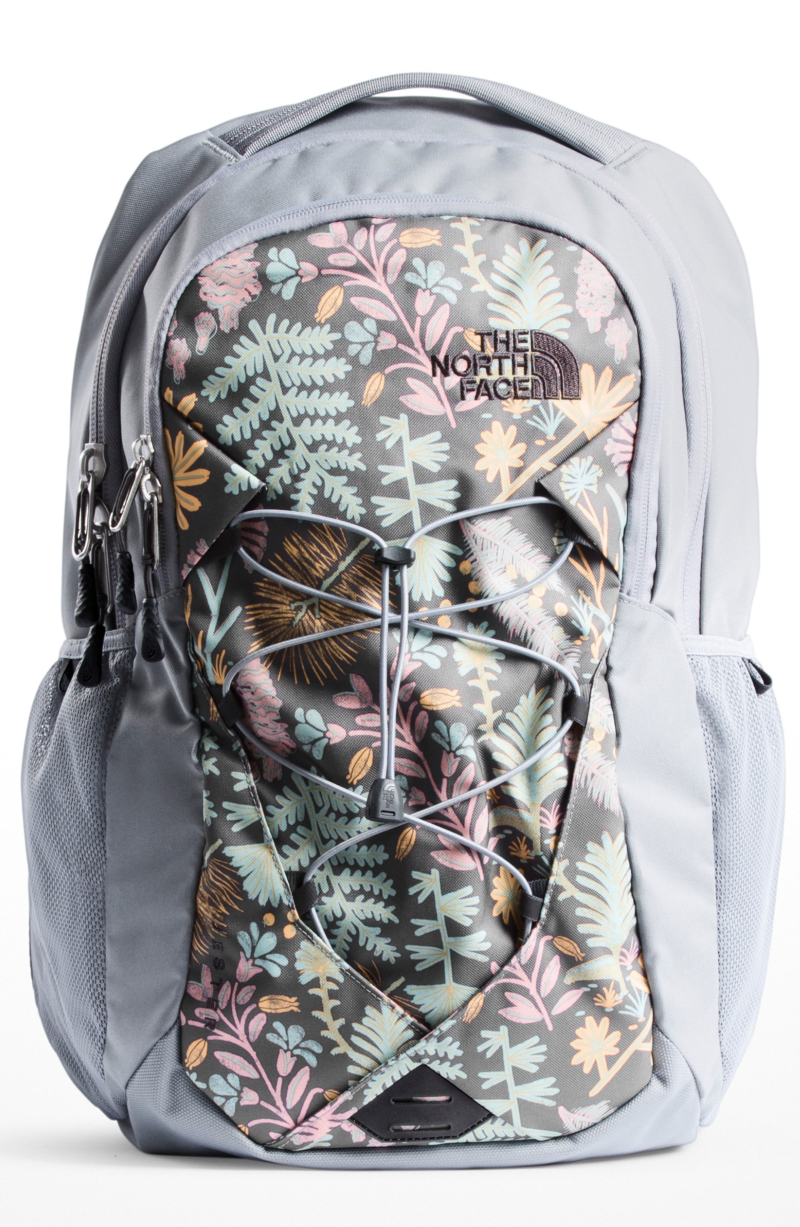 'Jester' Backpack,                         Main,                         color, GREY FLORAL PRINT/ MID GREY