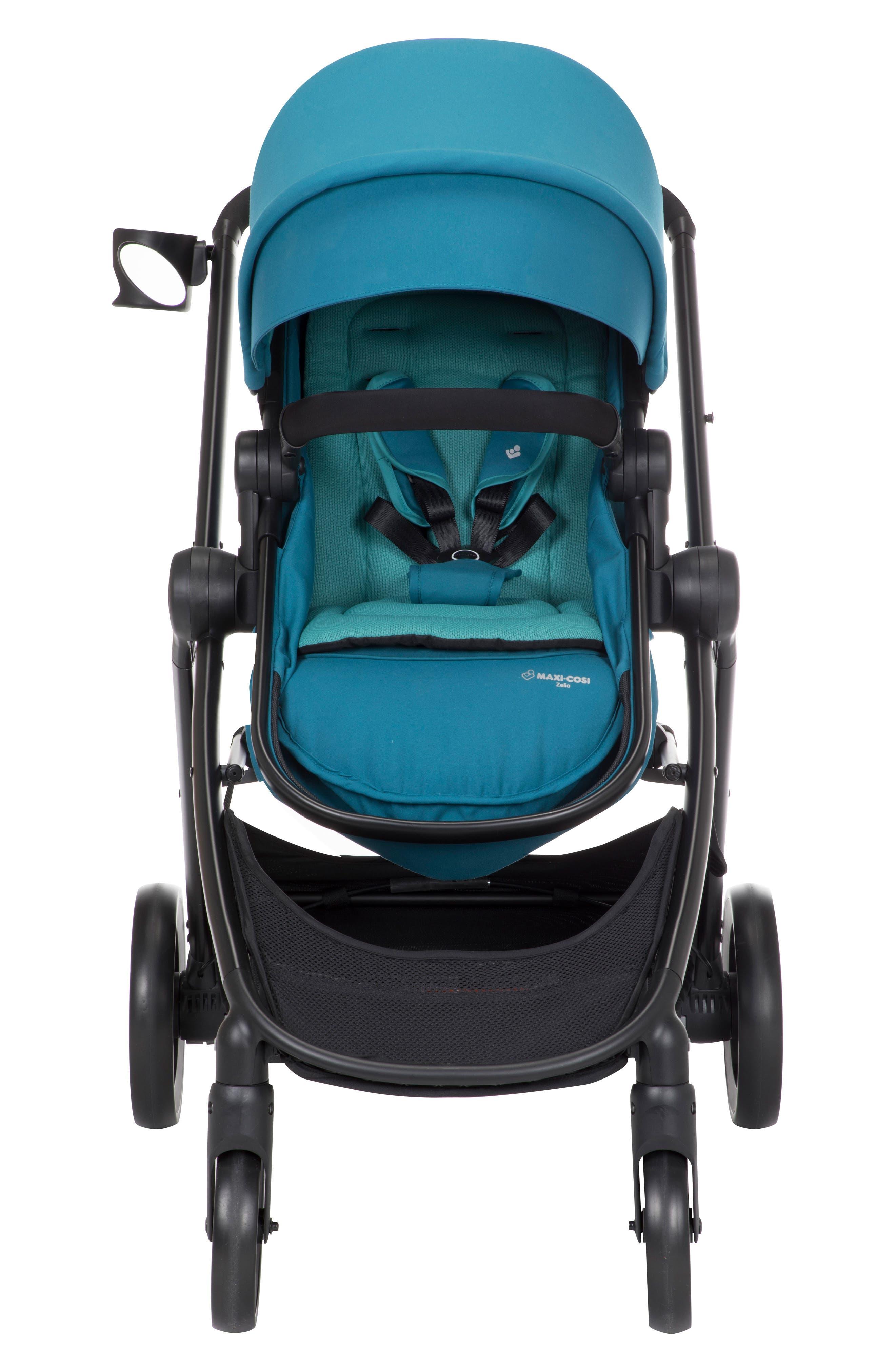 5-1 Mico 30 Infant Car Seat & Zelia Stroller Modular Travel System,                         Main,                         color, EMERALD TIDE
