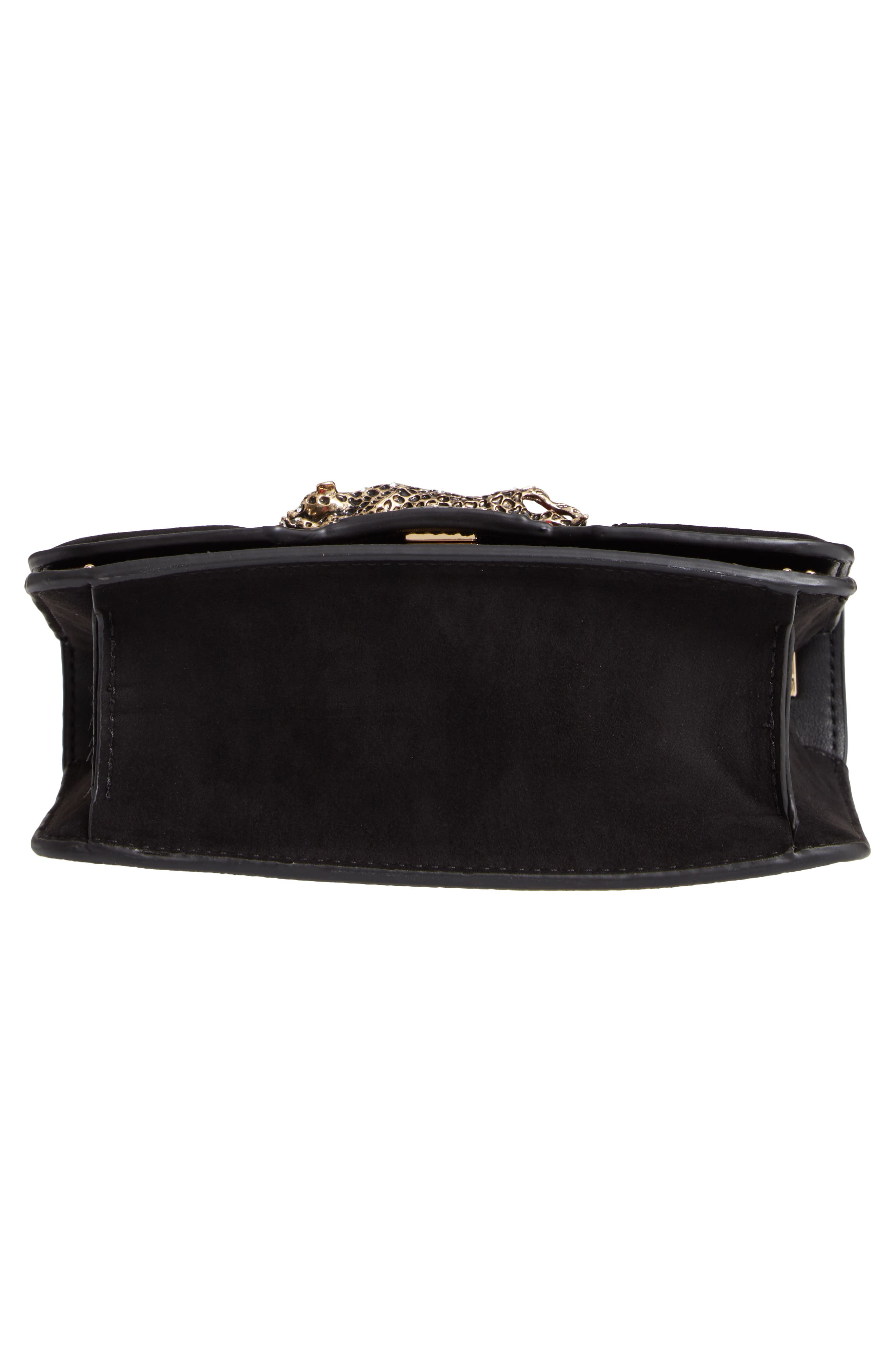 Panther Crossbody Bag,                             Alternate thumbnail 6, color,                             BLACK