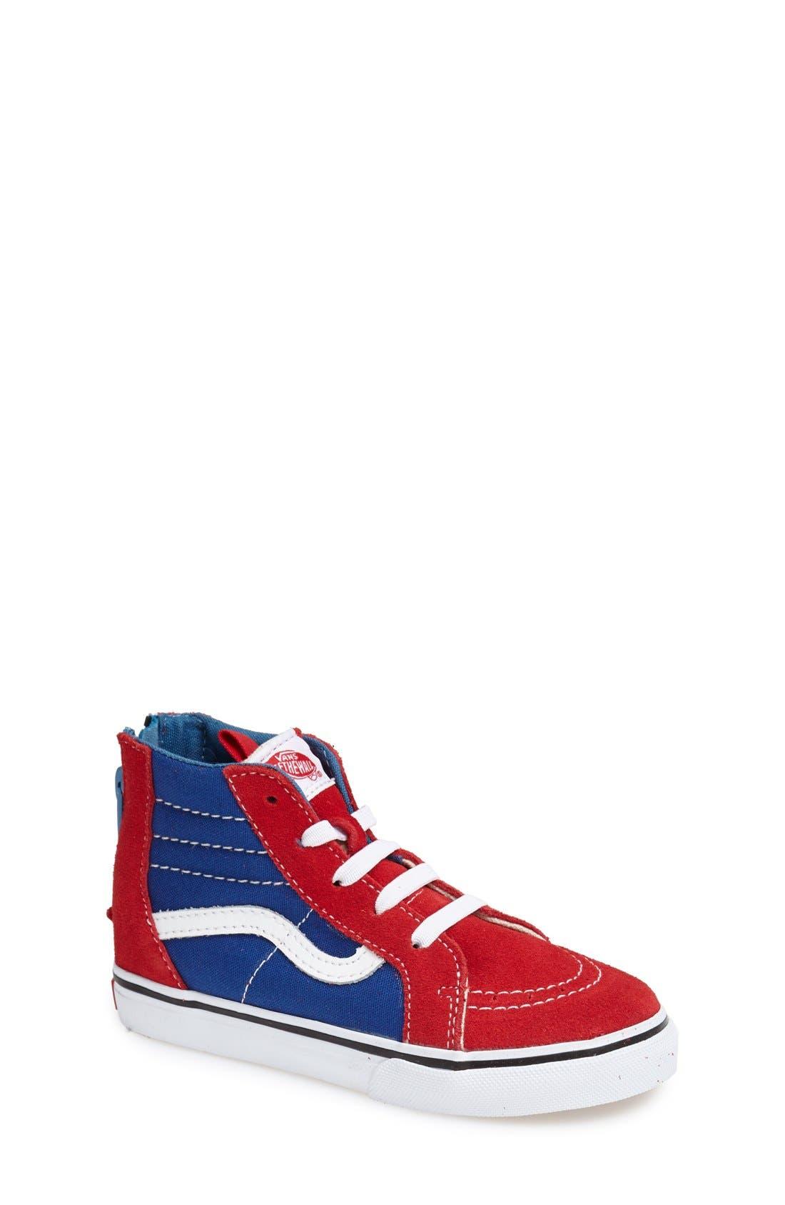 'Sk8-Hi' Zip Sneaker,                             Main thumbnail 5, color,