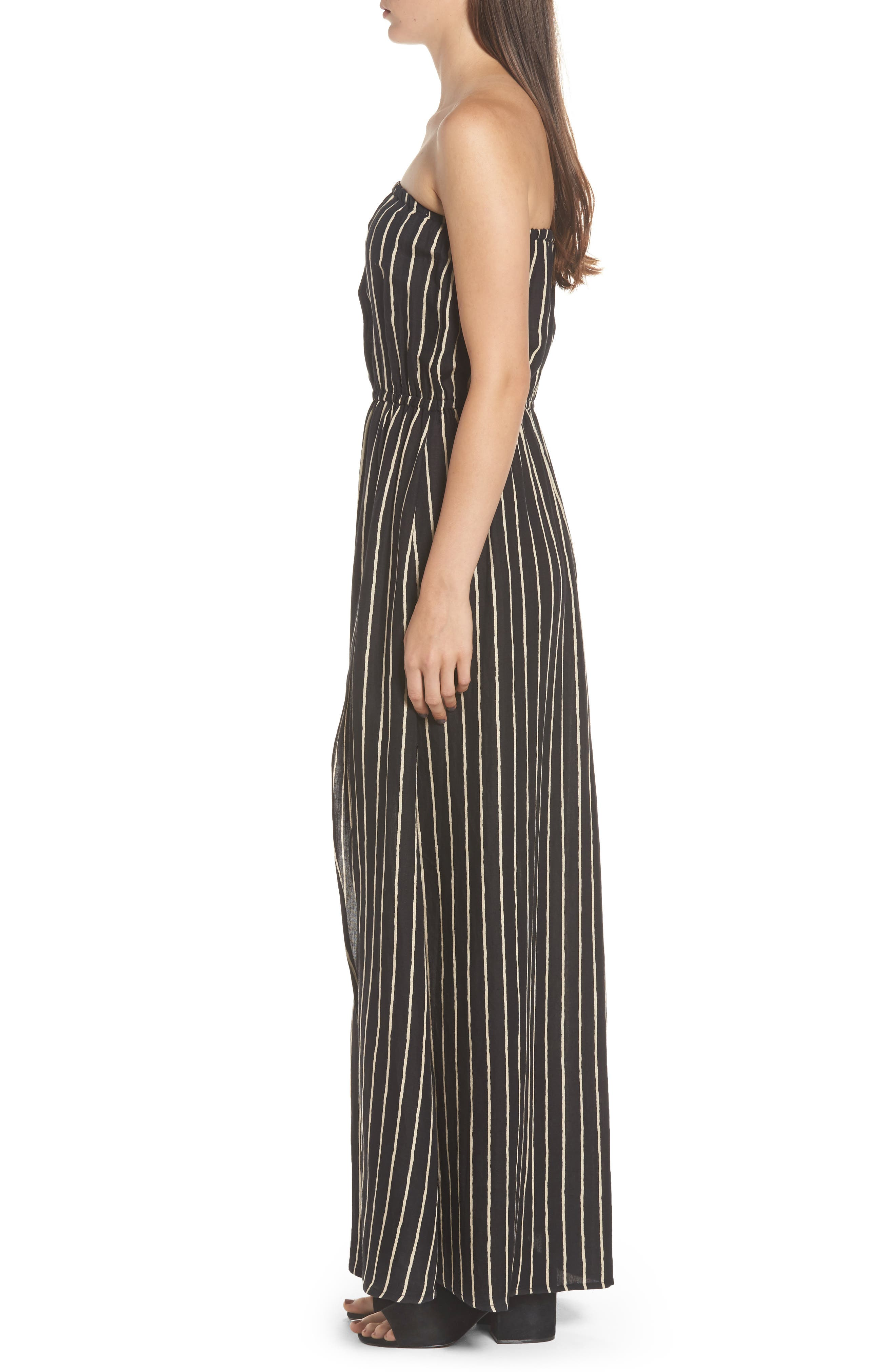 Strapless Faux Wrap Maxi Dress,                             Alternate thumbnail 3, color,
