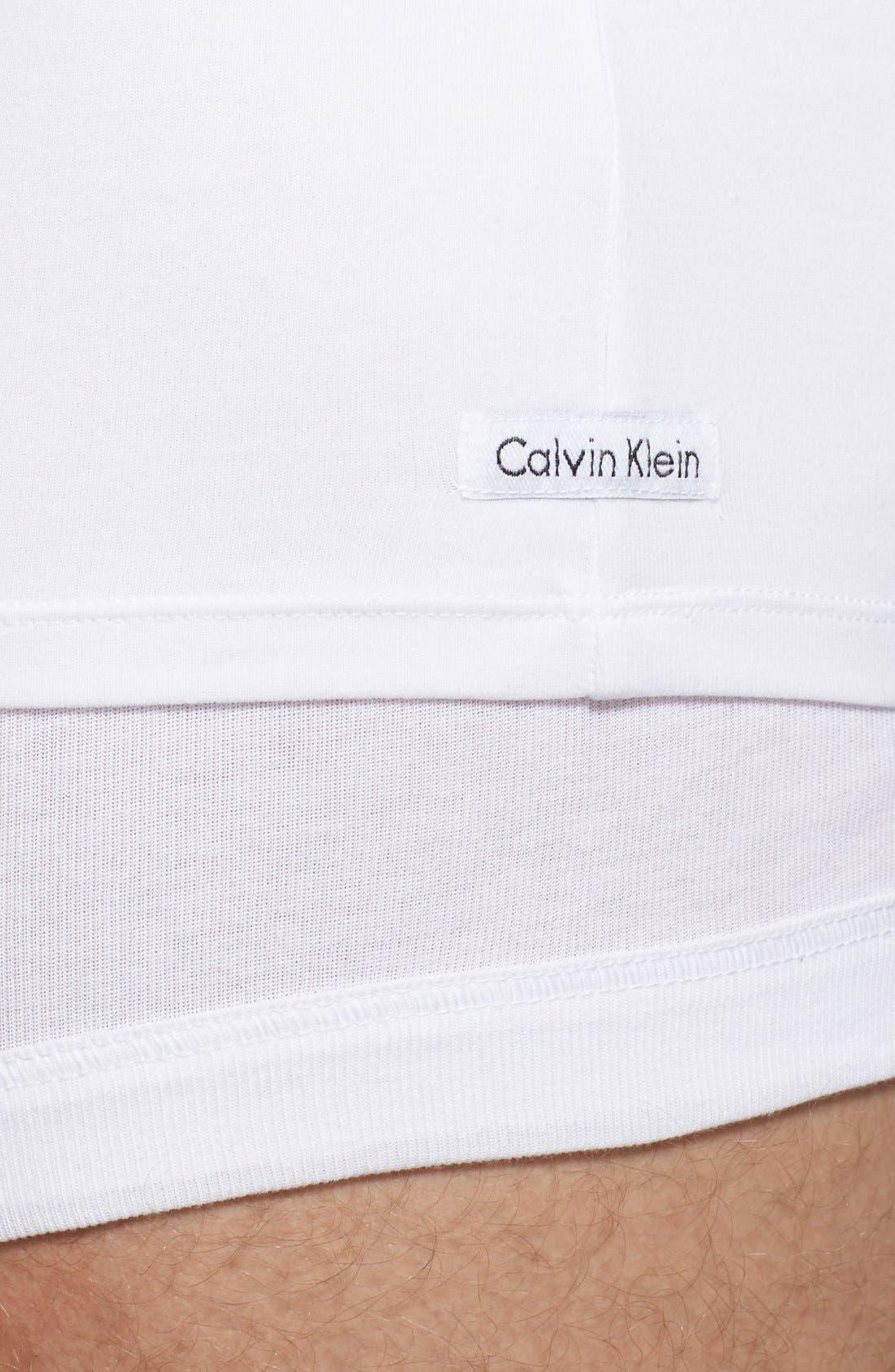 2-Pack Stretch Cotton T-Shirt,                             Alternate thumbnail 4, color,                             WHITE