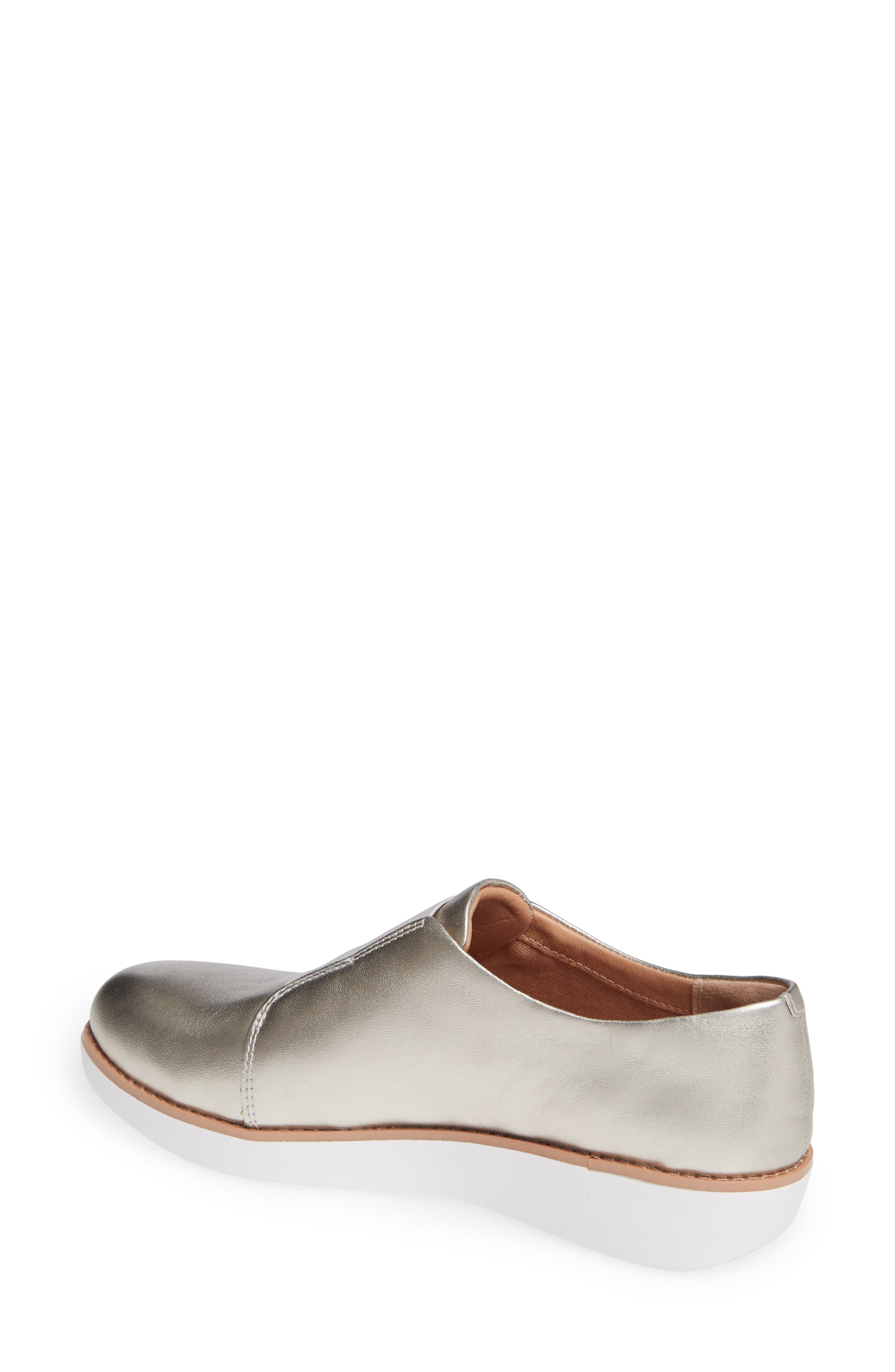 FITFLOP,                             Laceless Derby,                             Alternate thumbnail 2, color,                             SILVER LEATHER