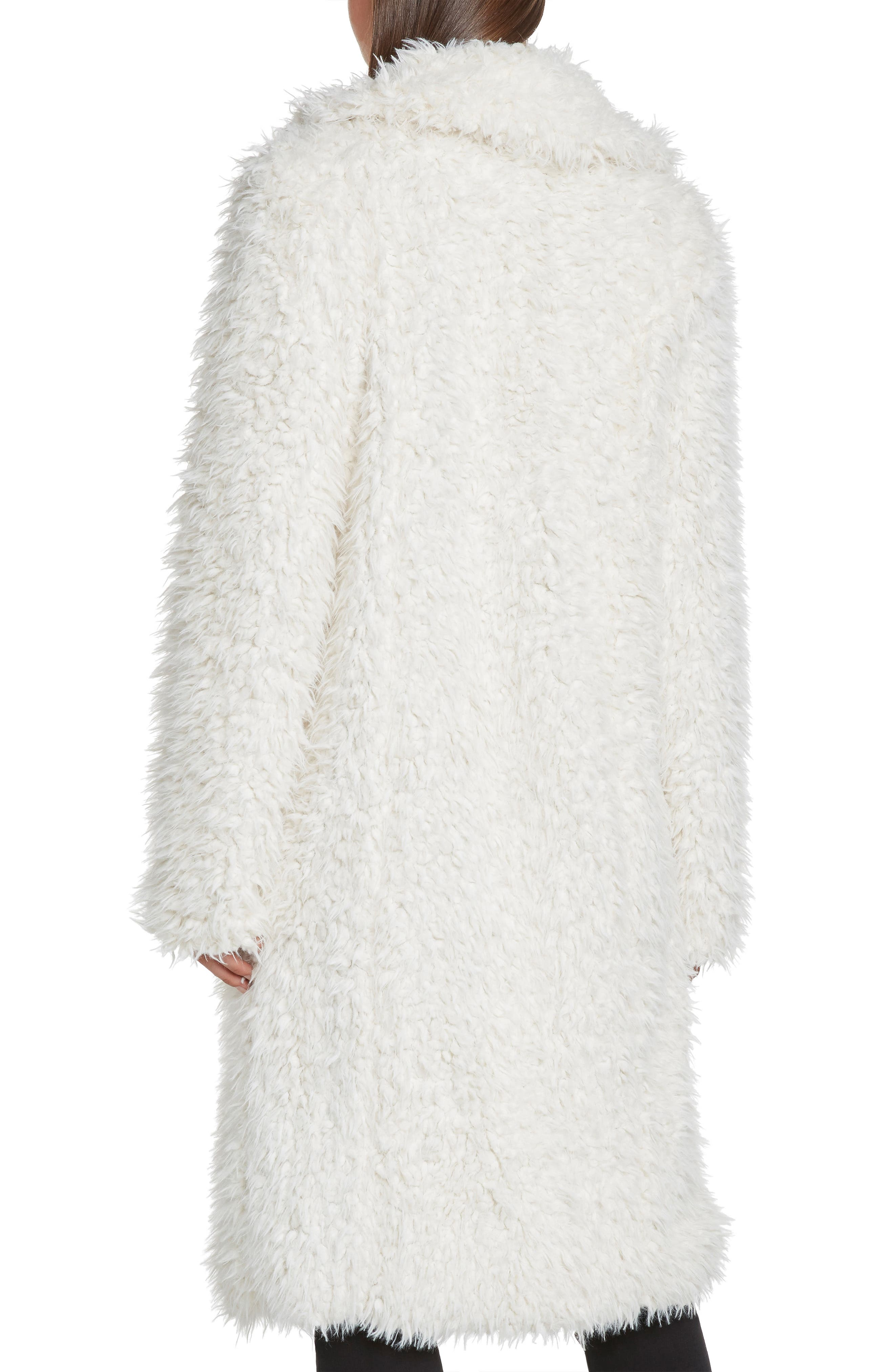 WILLOW & CLAY,                             Faux Fur Jacket,                             Alternate thumbnail 3, color,                             900