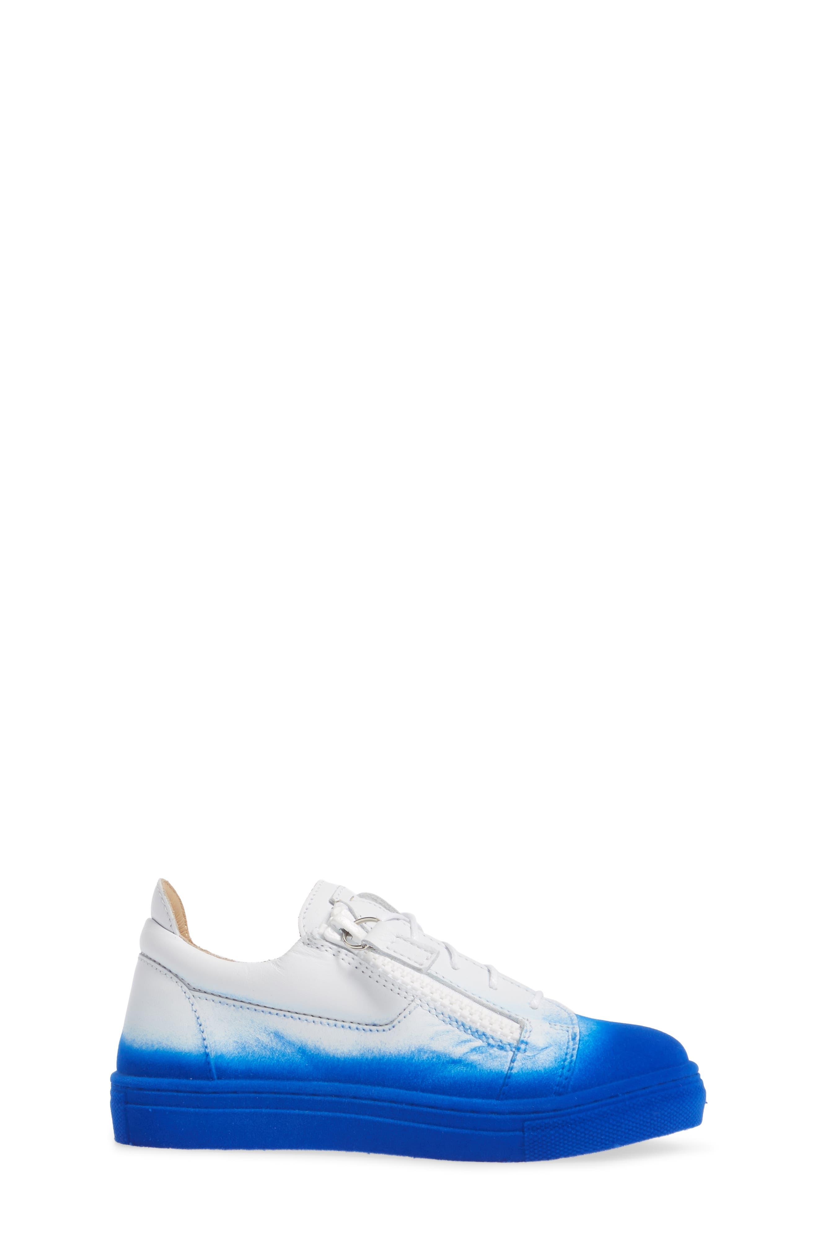 Smuggy Ombré Flocked Sneaker,                             Alternate thumbnail 3, color,                             BLUE/ WHITE