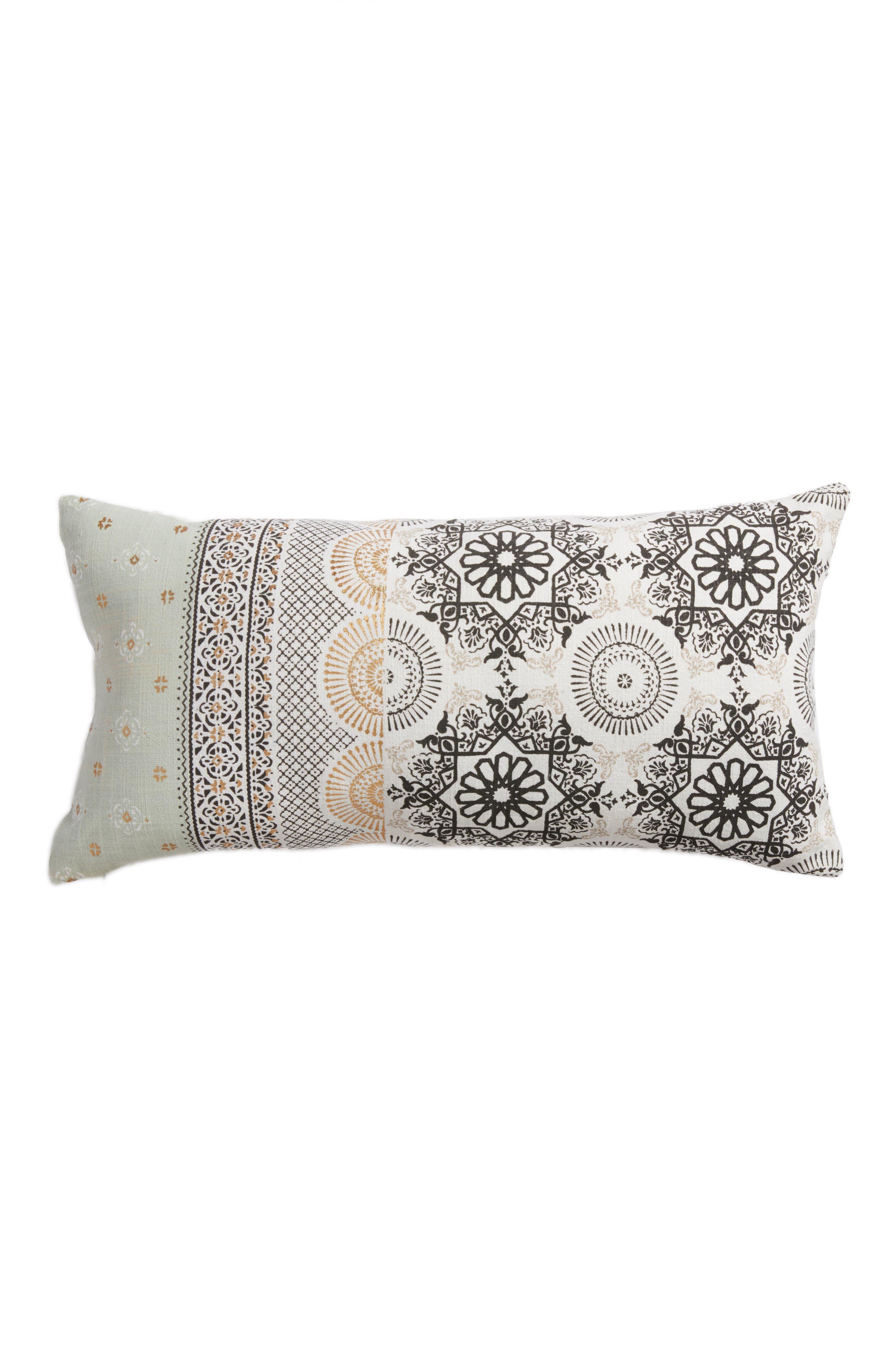 Moroccan Print Accent Pillow,                             Main thumbnail 2, color,