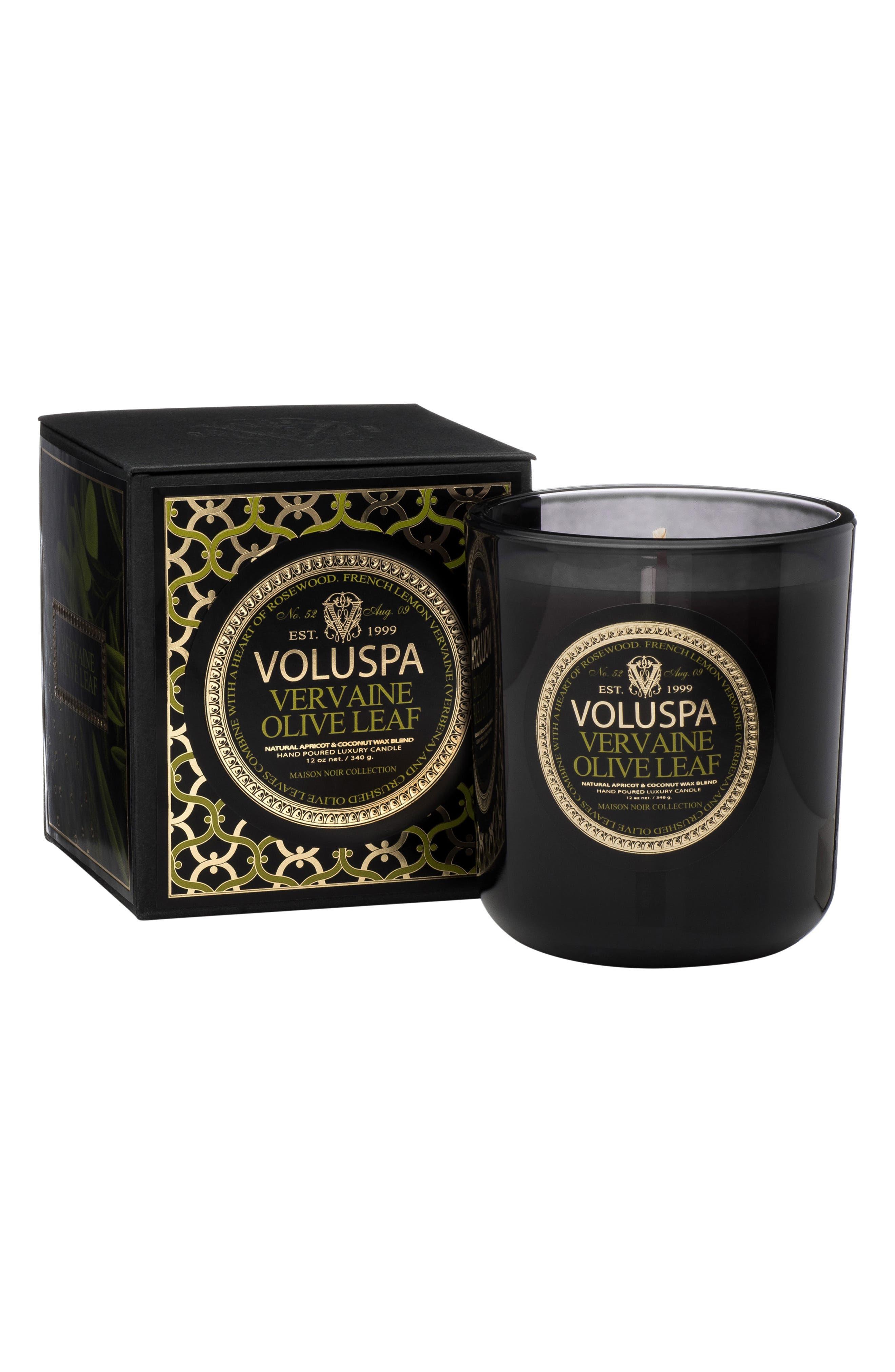 VOLUSPA,                             Maison Noir Vervaine Olive Leaf Classic Maison Candle,                             Alternate thumbnail 2, color,                             NO COLOR