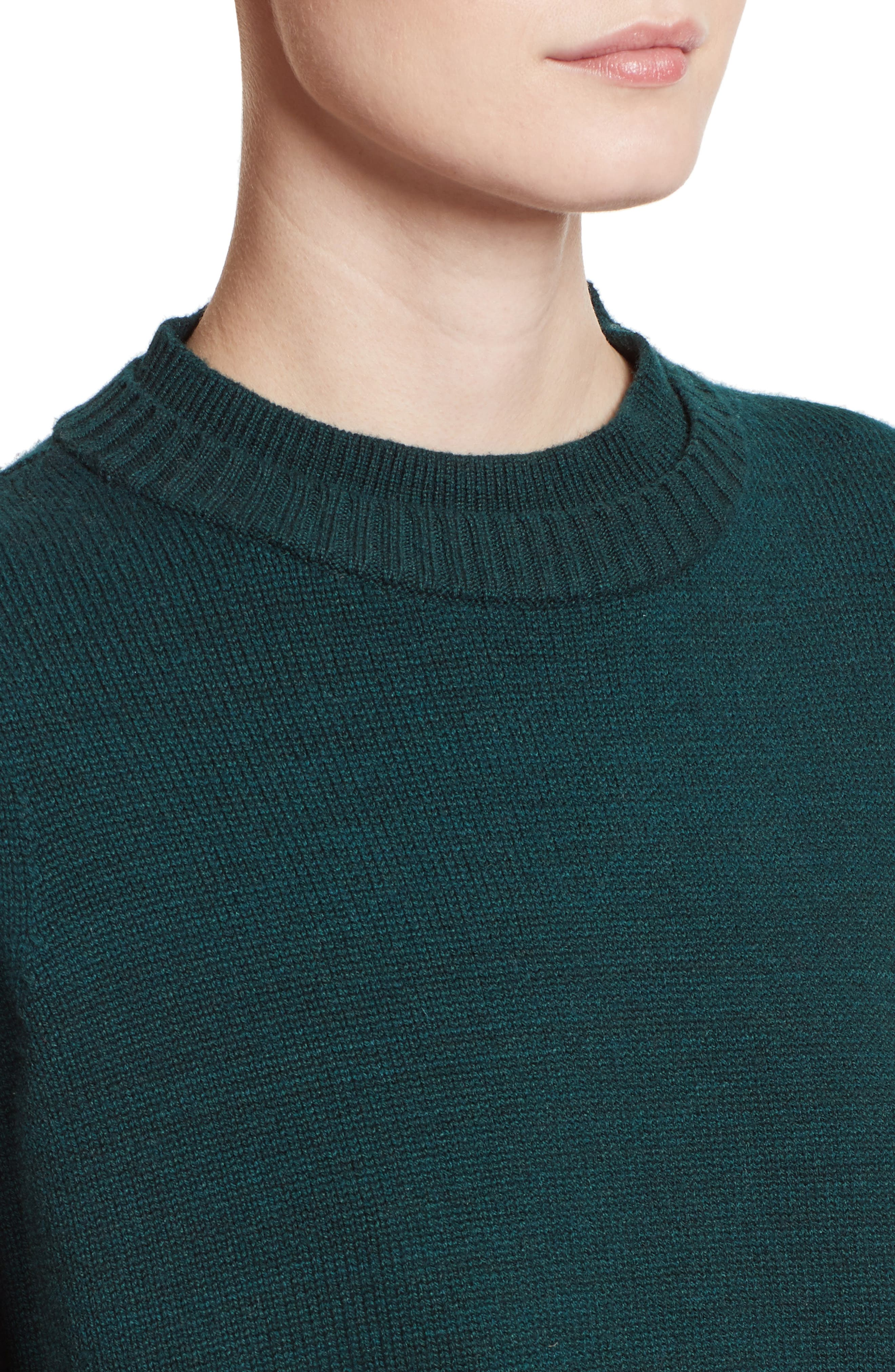 Wool, Silk & Cashmere Pullover,                             Alternate thumbnail 4, color,