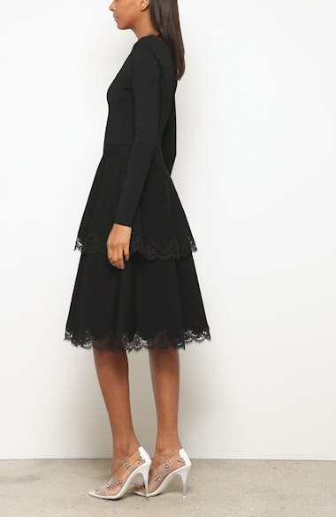 Lace Trim Tiered Sweater Dress, video thumbnail