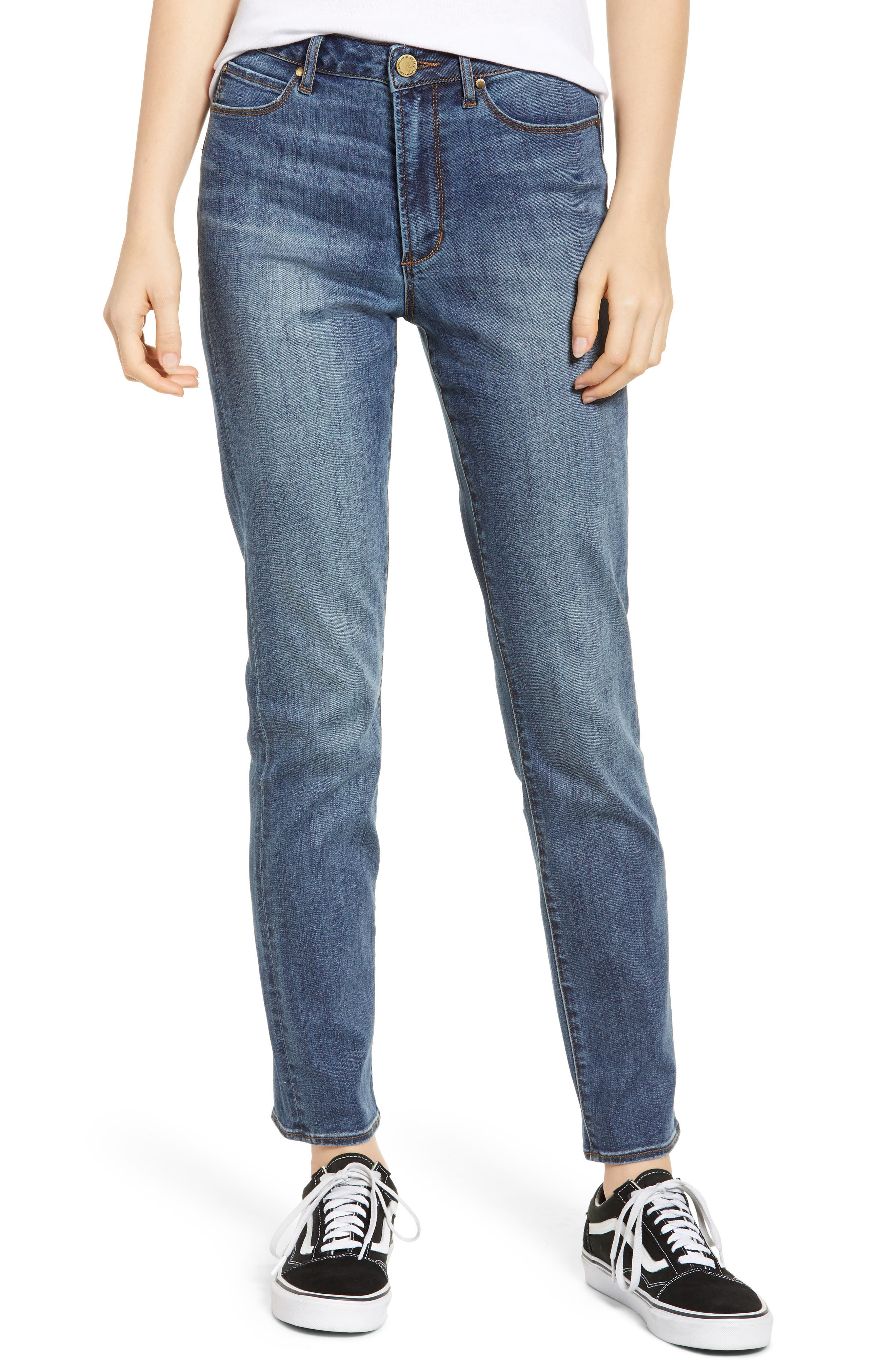 ARTICLES OF SOCIETY Rene High Waist Straight Leg Jeans in Carrefour