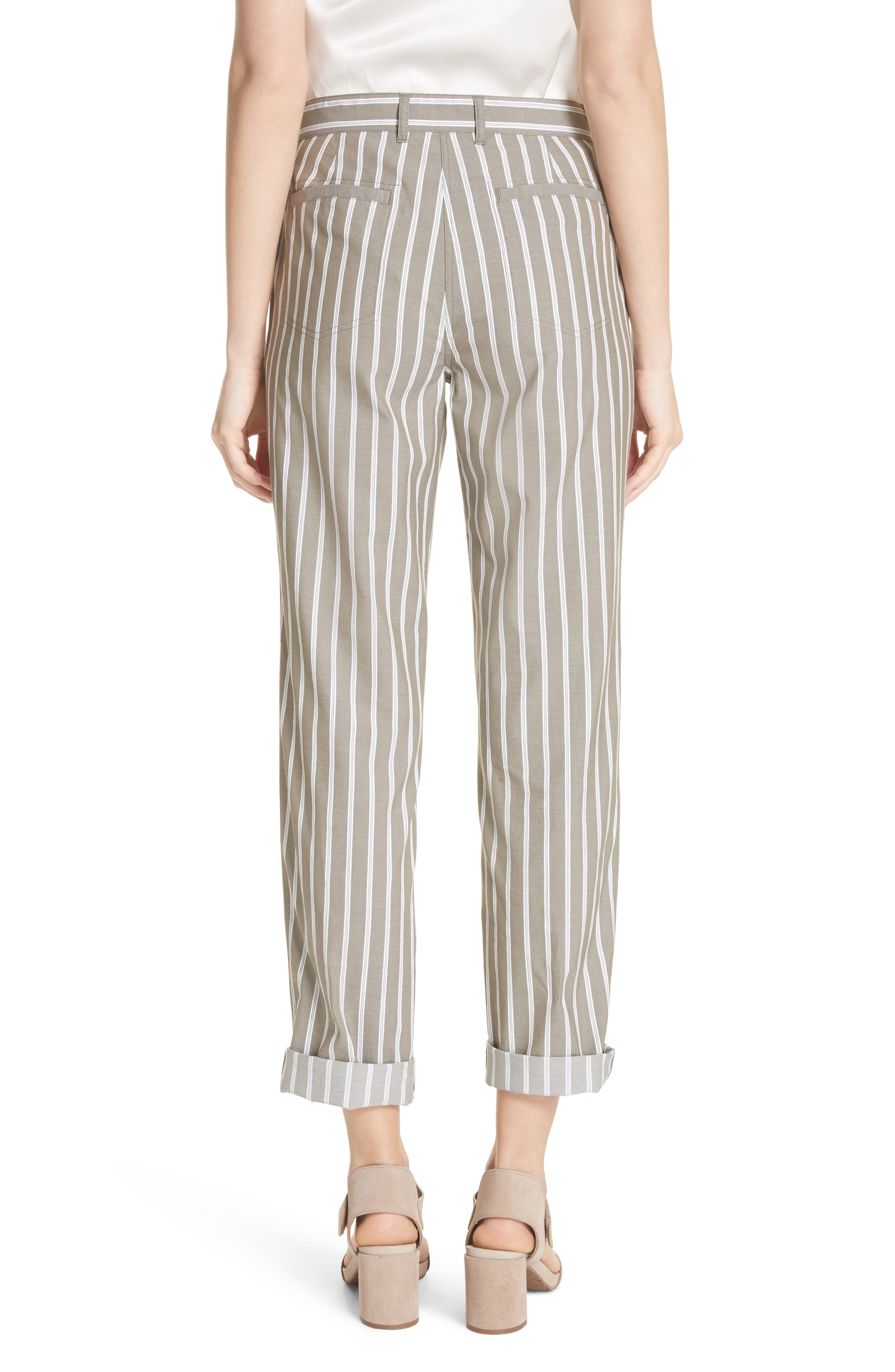 Fulton Desert Stripe Cotton & Linen Pants,                             Alternate thumbnail 2, color,