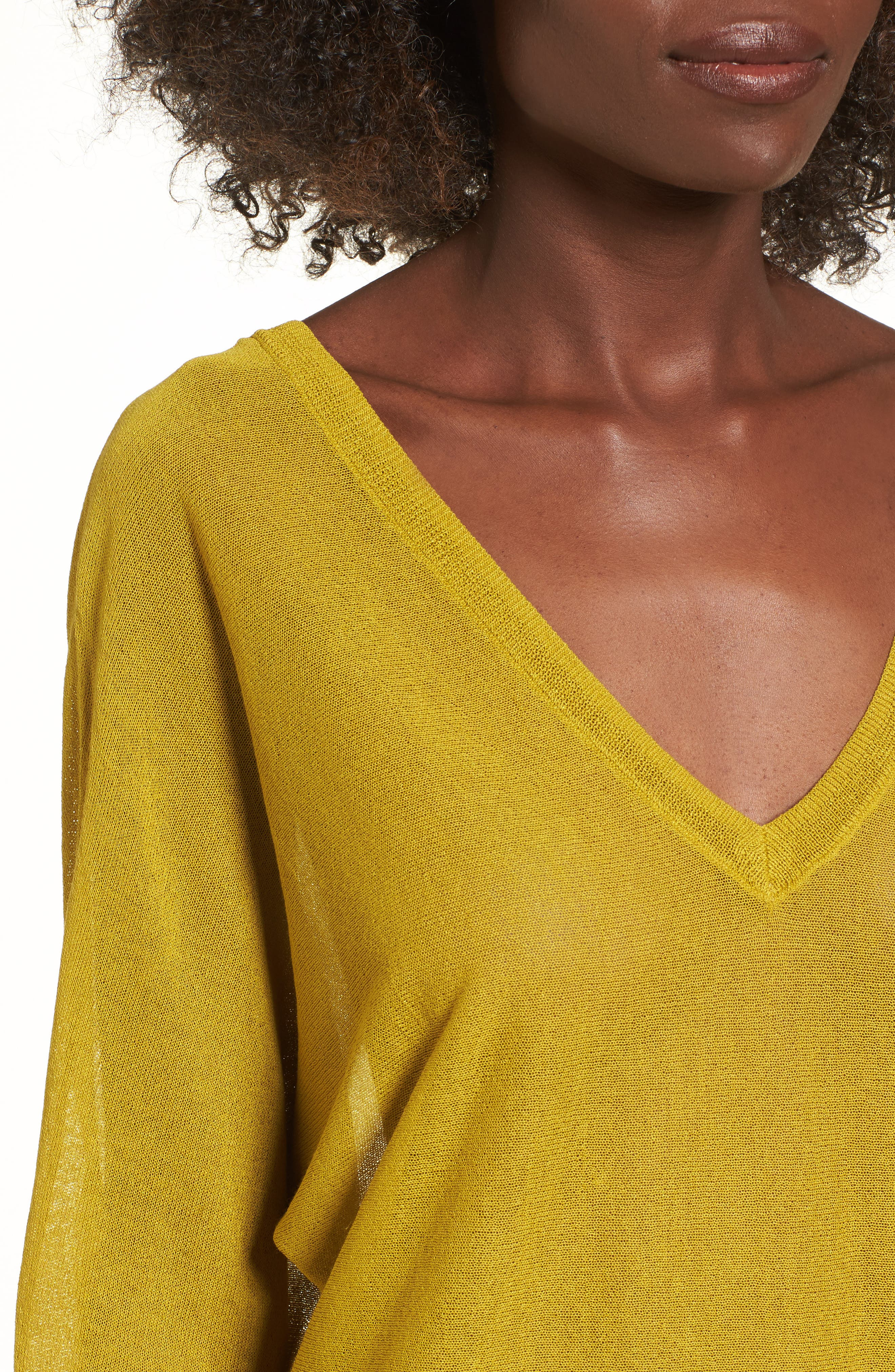 Double V-Neck Sweater,                             Alternate thumbnail 11, color,