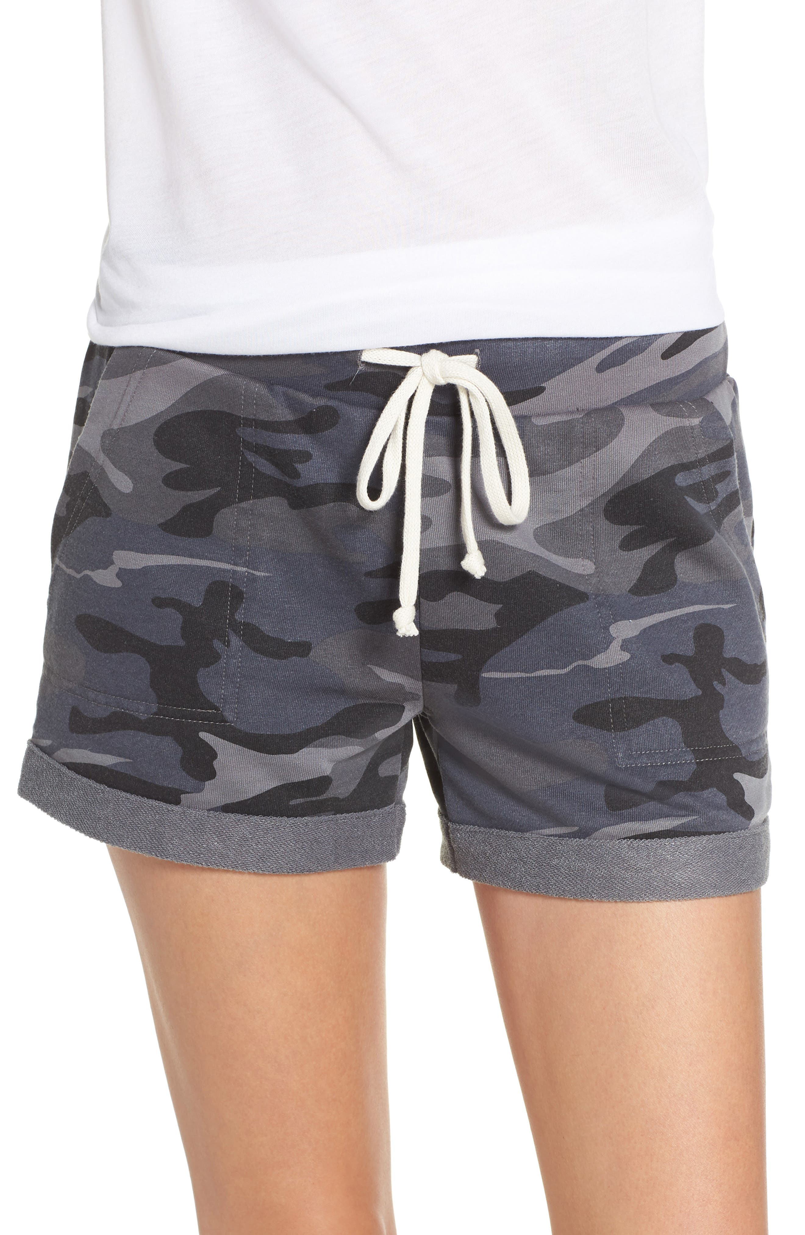 ALTERNATIVE Camo Lounge Shorts, Main, color, 099