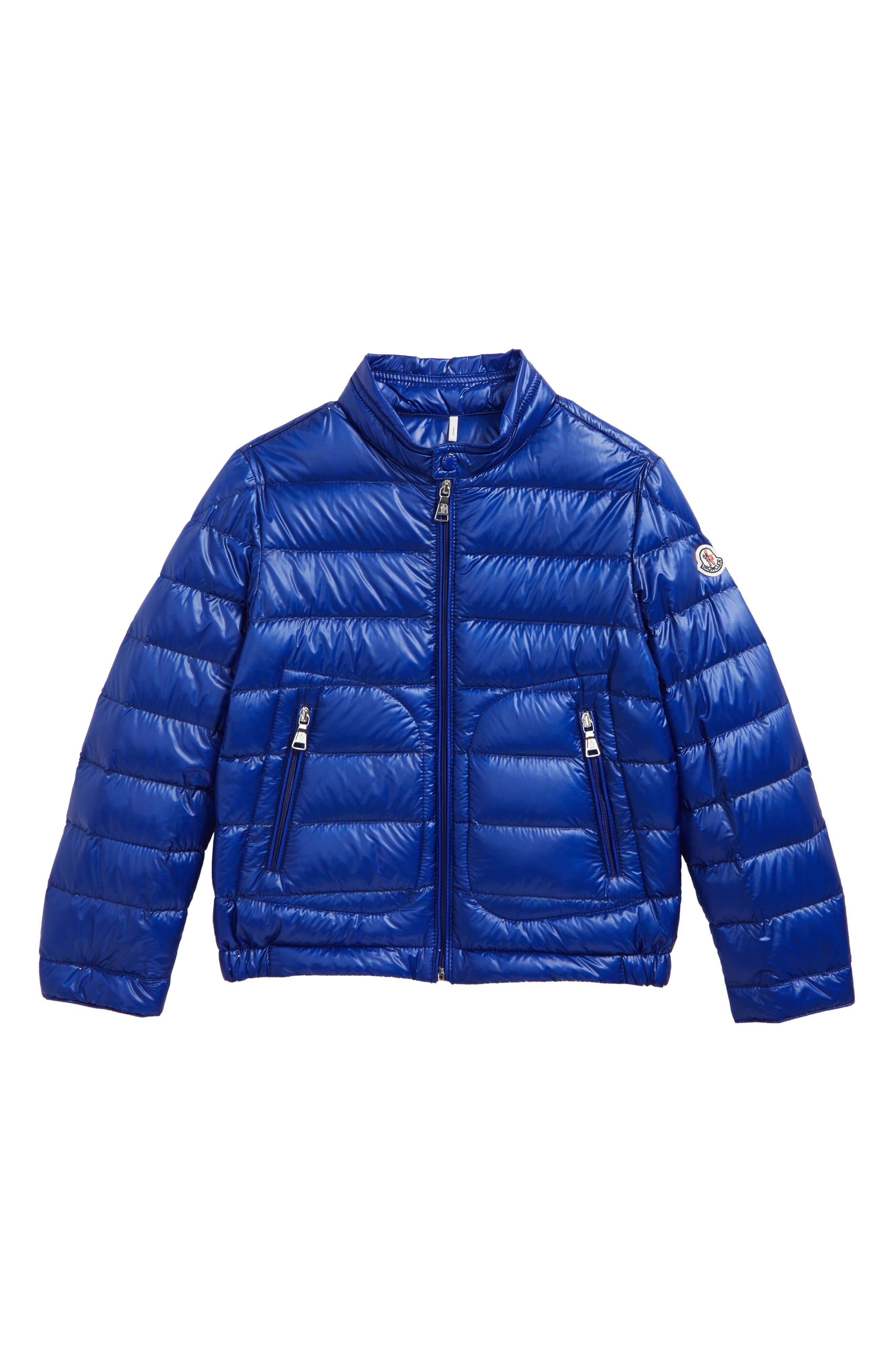Acorus Goose Down Jacket,                             Main thumbnail 1, color,                             BRIGHT BLUE