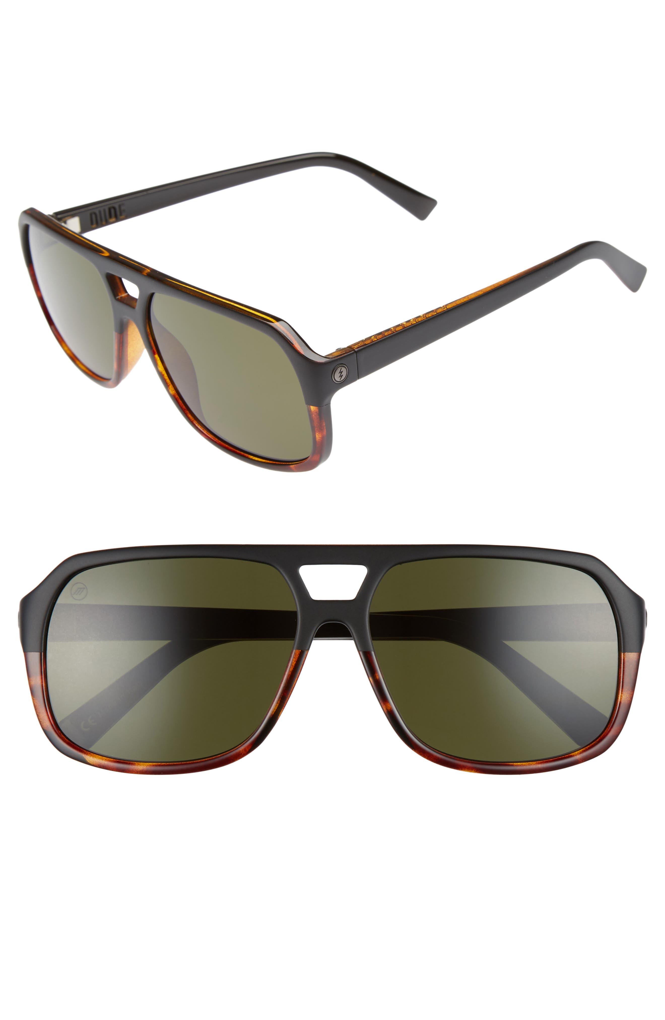 Dude 58mm Sunglasses,                             Main thumbnail 1, color,                             DARKSIDE TORTOISE/ GREY